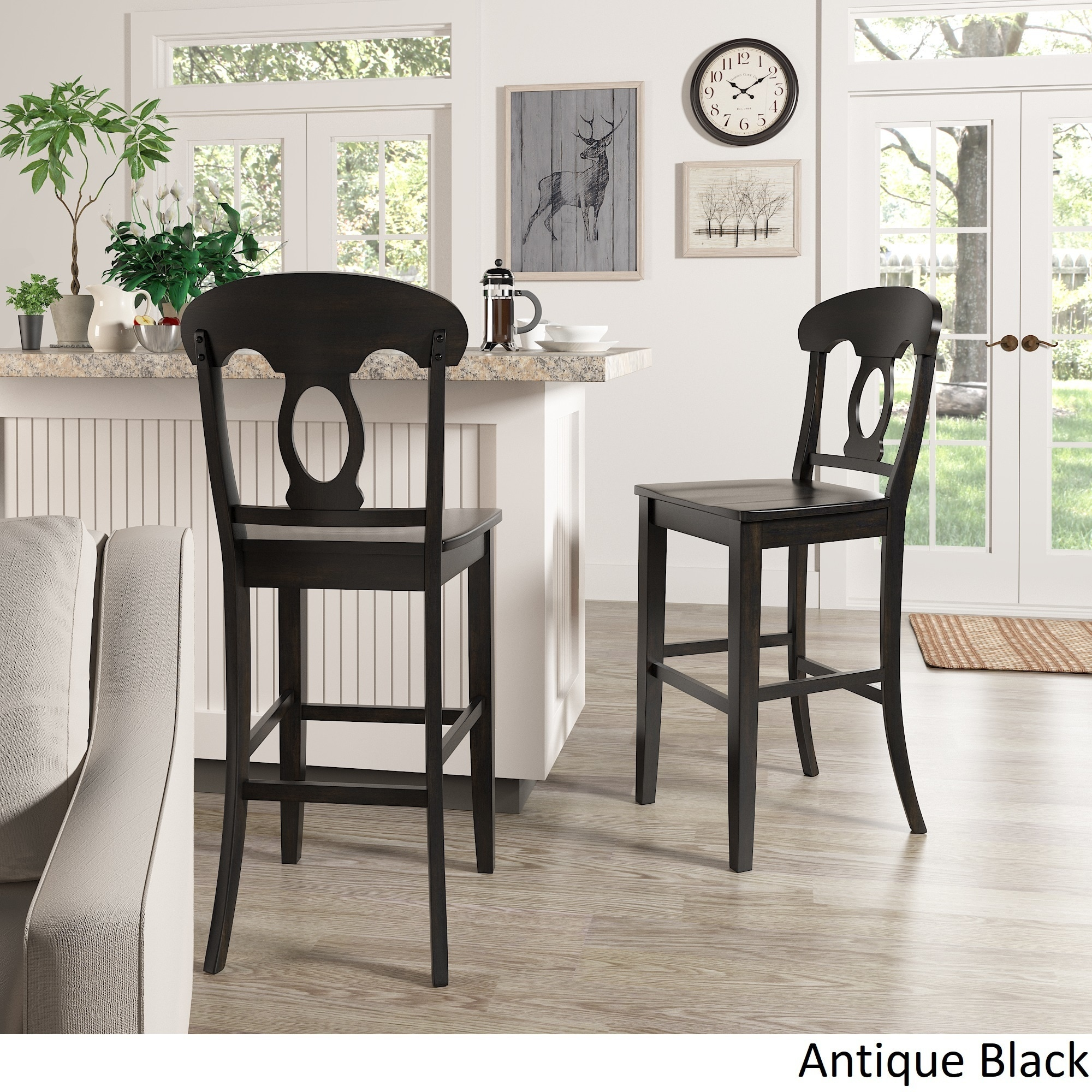 Awesome Shop Eleanor Napoleon Back Bar Height Chairs (Set Of 2) By INSPIRE Q  Classic   On Sale   Free Shipping Today   Overstock.com   21893194