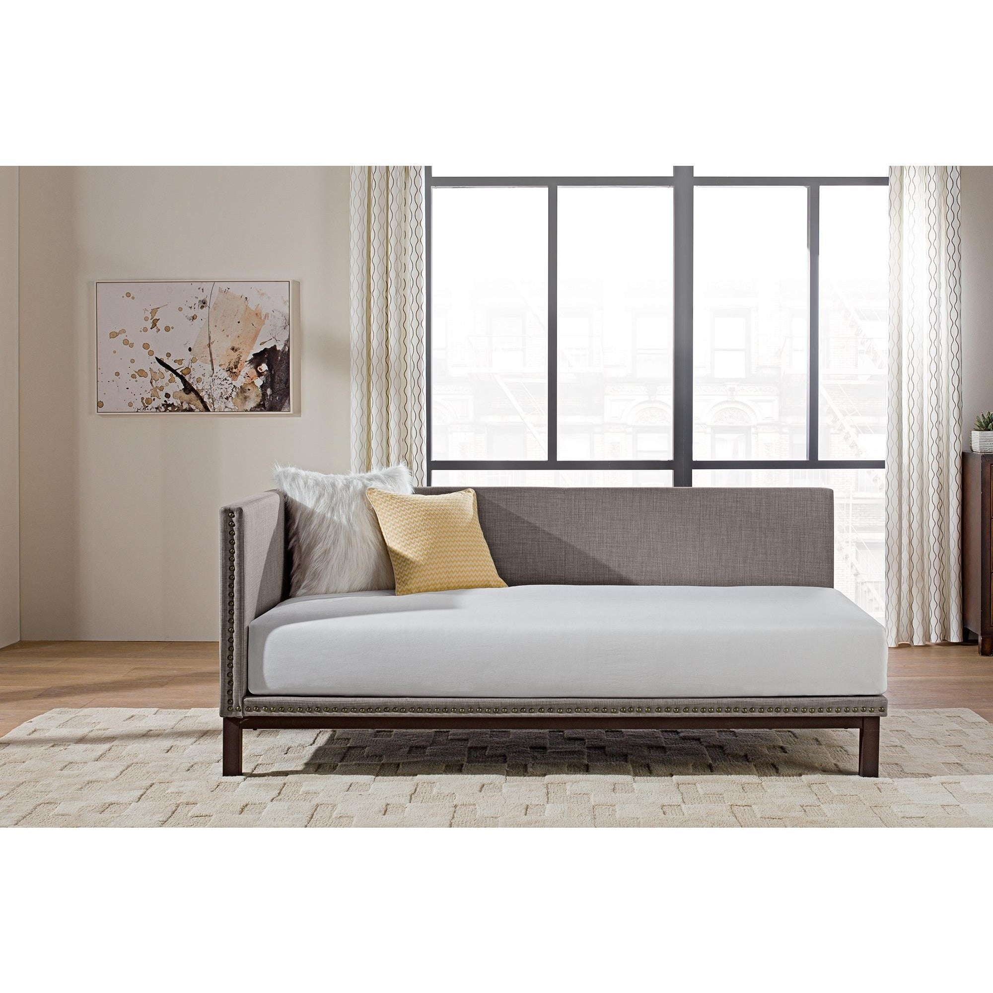 Genial Shop Copper Grove Alty Mid Century Grey Upholstered Modern Daybed   Free  Shipping Today   Overstock   21895216