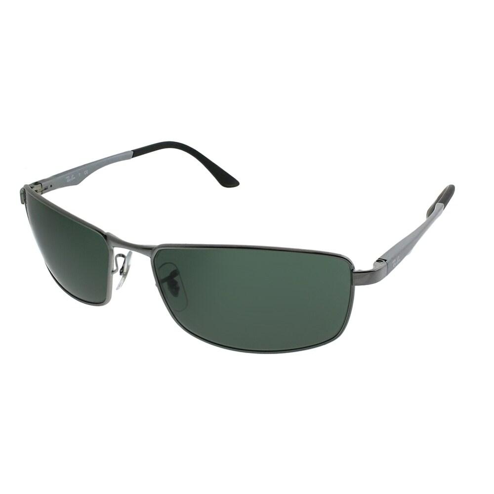 b55ee44a3d561 Ray-Ban Sport RB 3498 004 71 Unisex Black Frame Green Lens Sunglasses