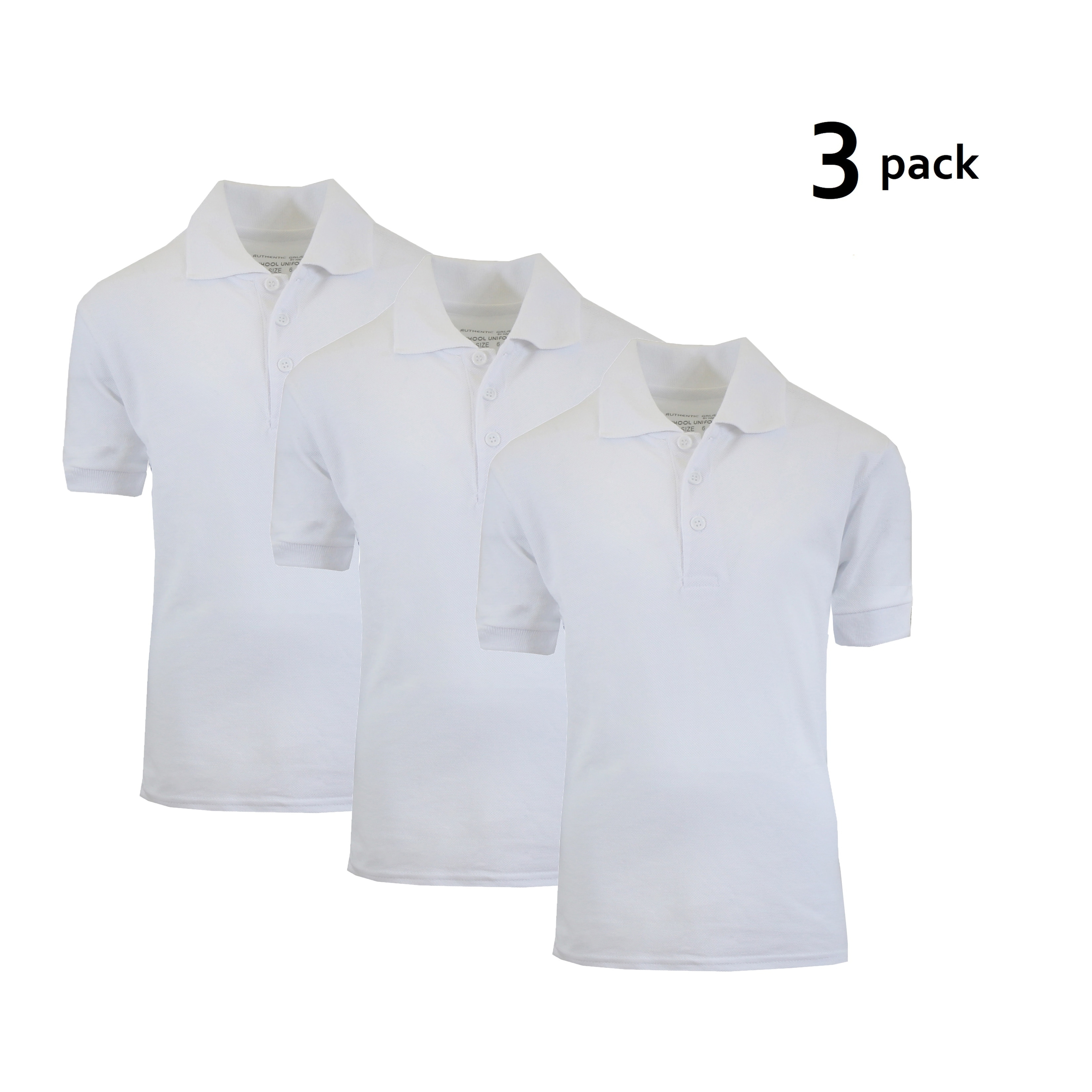 Shop Galaxy By Harvic Boys White Short Sleeve School Uniform Polo
