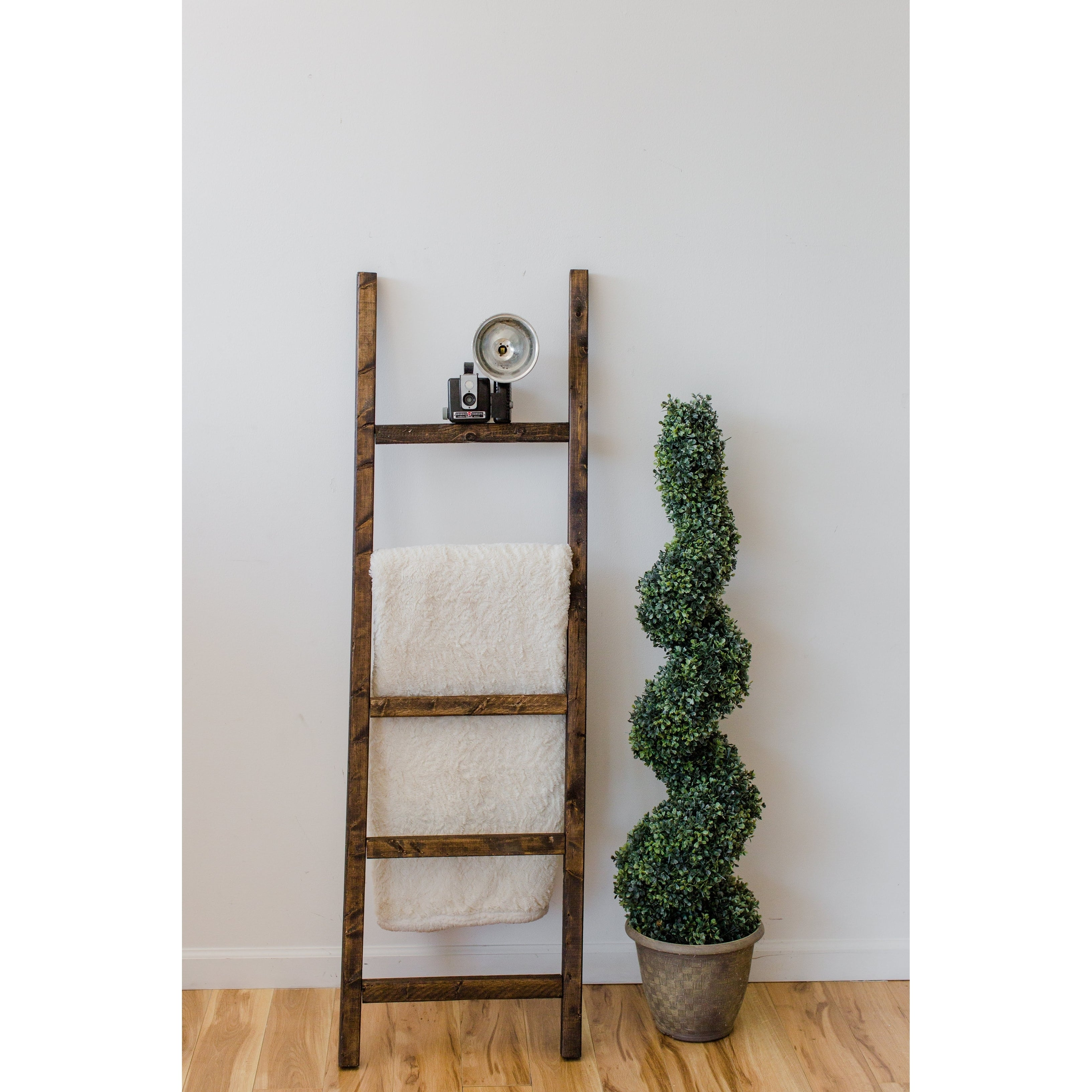 Espresso 60In Decorative Accent Ladder  Free Shipping Today
