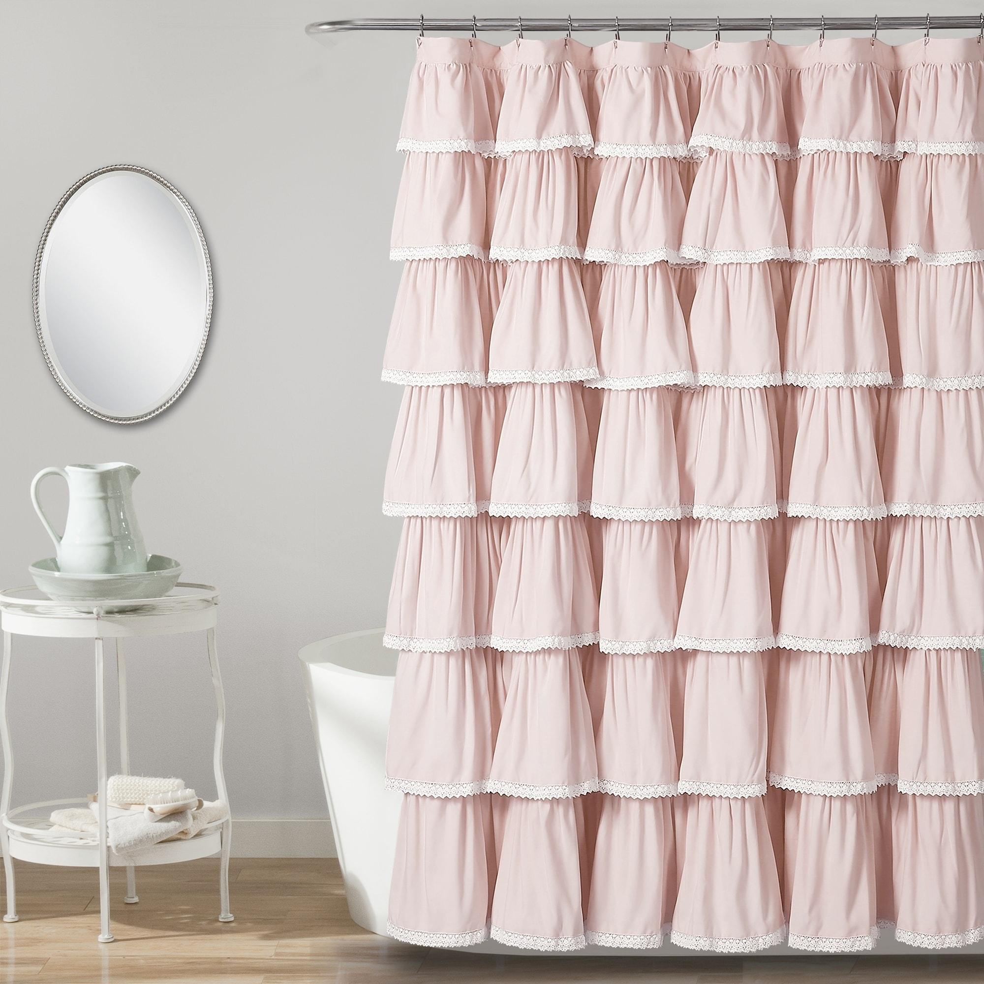 Shop Lush Decor Lace Ruffle Shower Curtain
