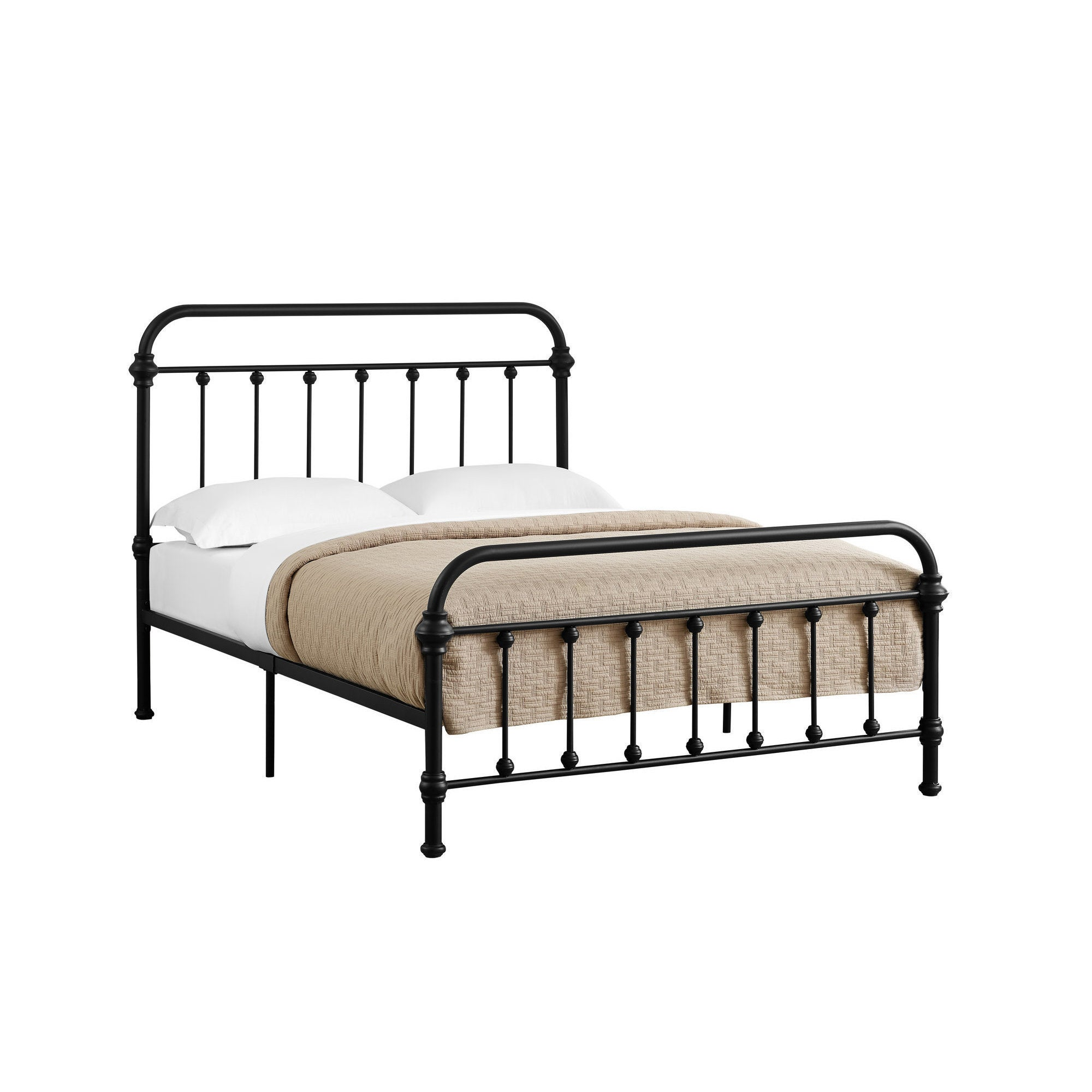 Shop Monarch Black Metal Full-size Bed Frame - Free Shipping Today ...
