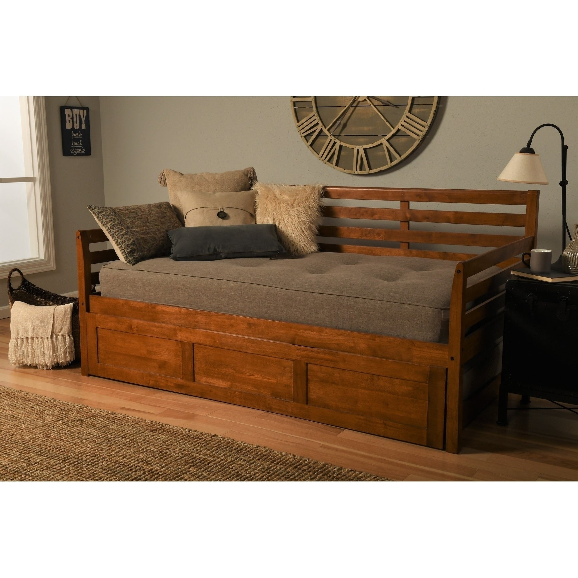 Day Bed.Copper Grove Kutaisi Wood Daybed