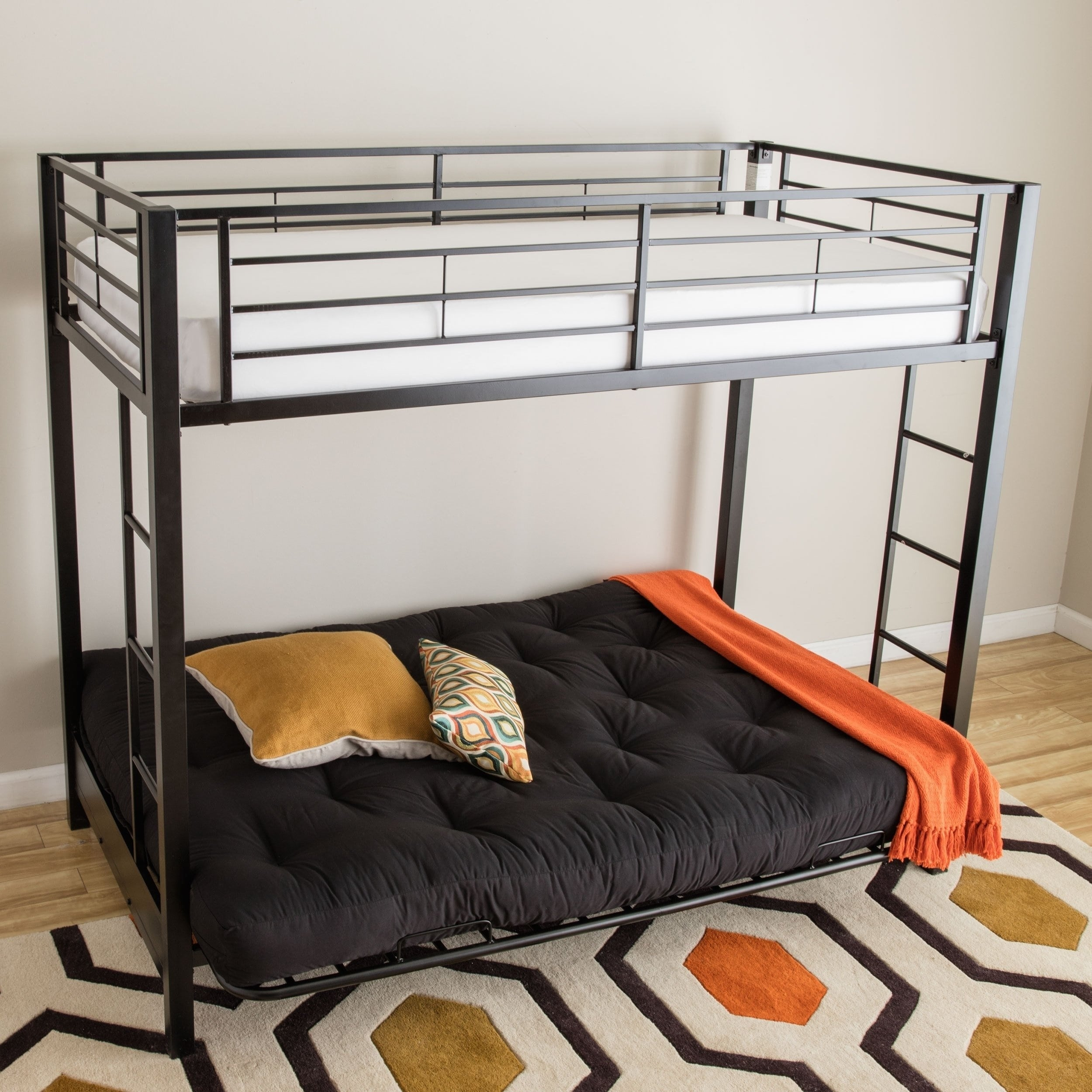 Shop Taylor   Olive Tussock Black Steel Bunk Bed and Futon - On Sale - Free  Shipping Today - Overstock - 21906971 372d2d90e6
