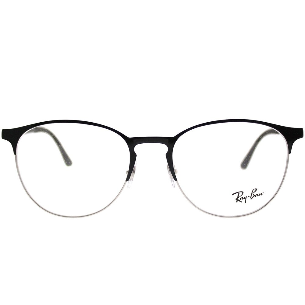fbba2fc567 Shop Ray-Ban Round RX 6375 2861 Unisex Silver on Black Frame Eyeglasses -  Ships To Canada - Overstock - 21910047