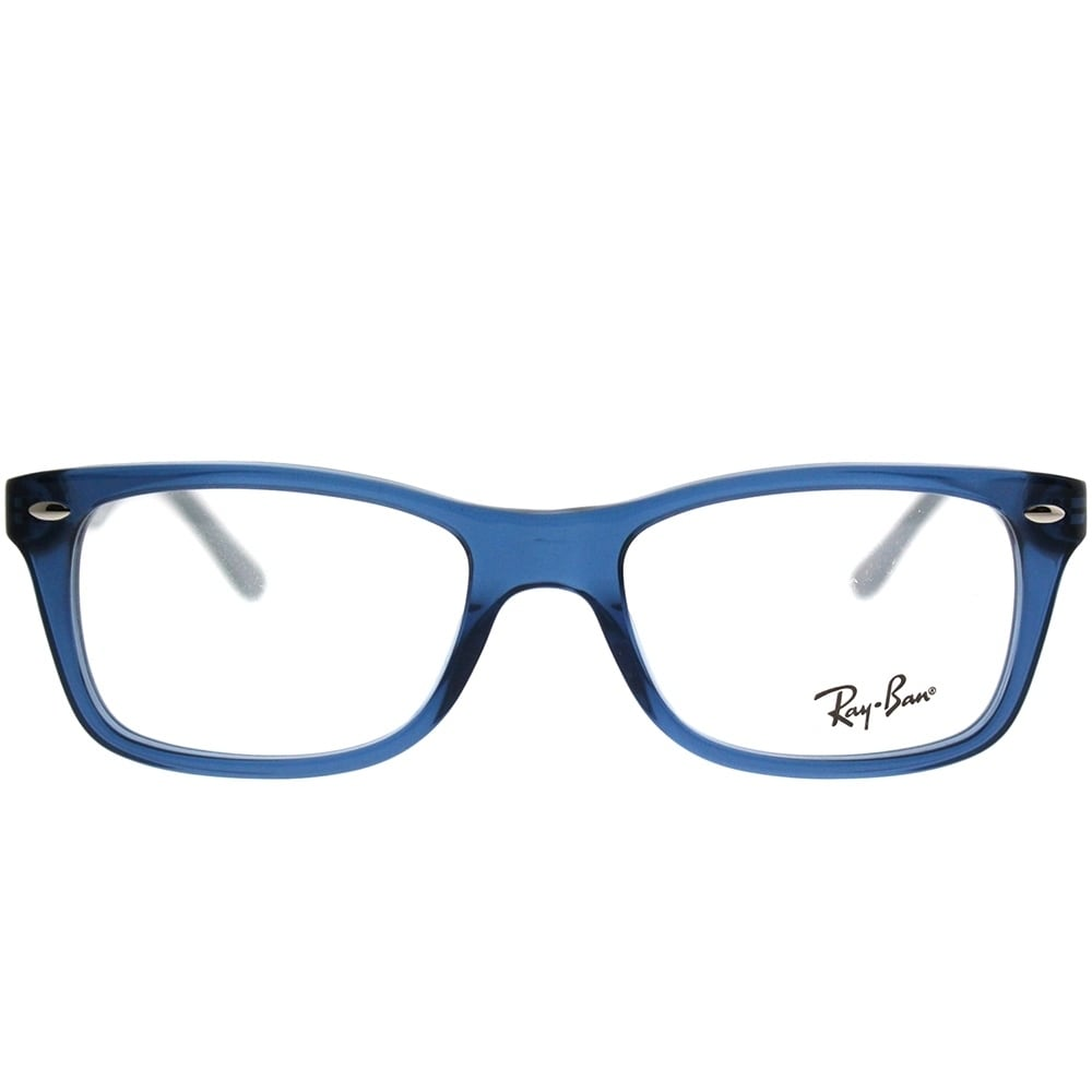 68b8e969283 Shop Ray-Ban Rectangle RX 5228 5547 Unisex Transparent Blue Frame Eyeglasses  - Free Shipping Today - Overstock - 21911397