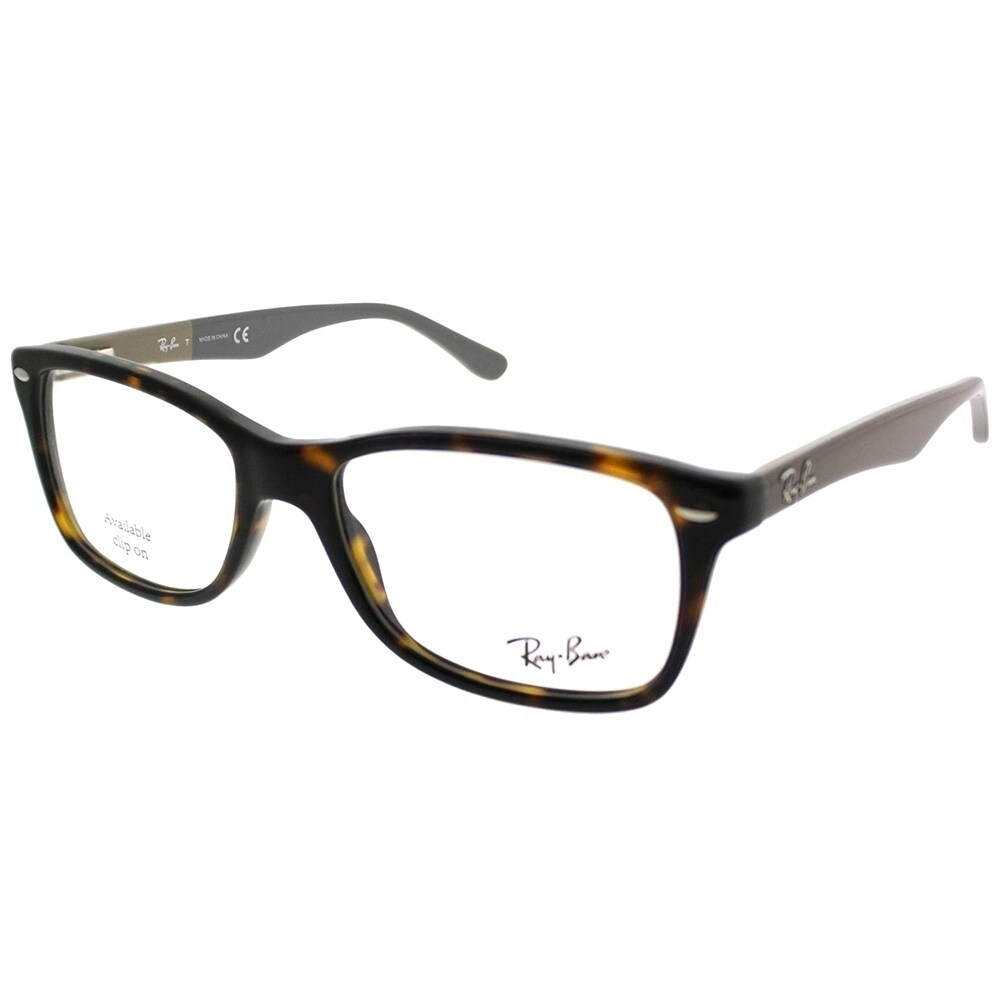 0975efdcd0 Shop Ray-Ban Rectangle RX 5228 5545 Unisex Black Frame Eyeglasses ...