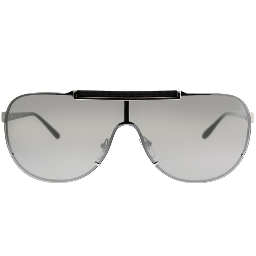 267d3b4c9b0 Shop Versace Shield VE 2140 10006G Unisex Silver Frame Silver Mirror Lens  Sunglasses - Free Shipping Today - Overstock - 21912055