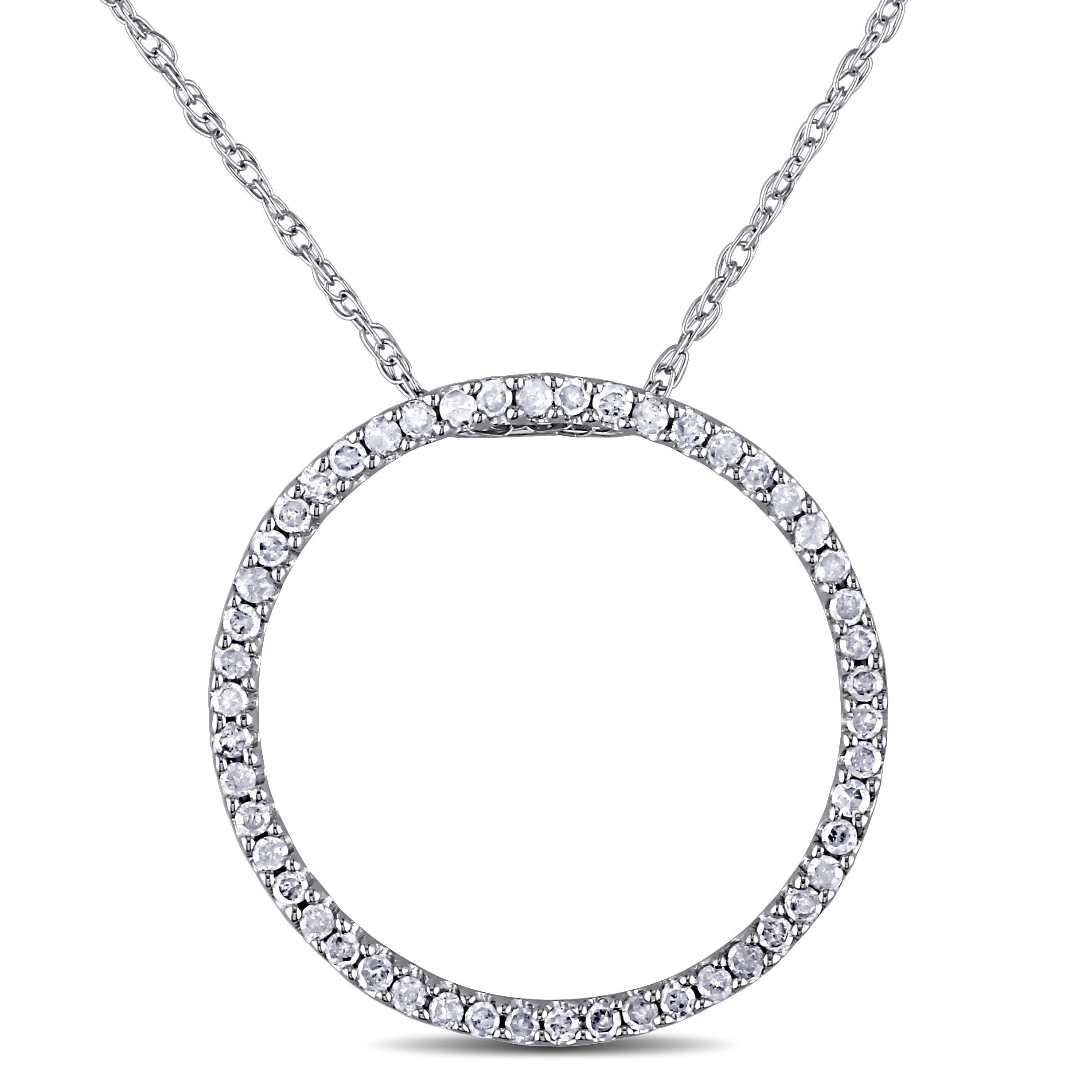 free jewelry gold brilliance diamond watches circle overstock product shipping motion pendant chain in double today white tdw w