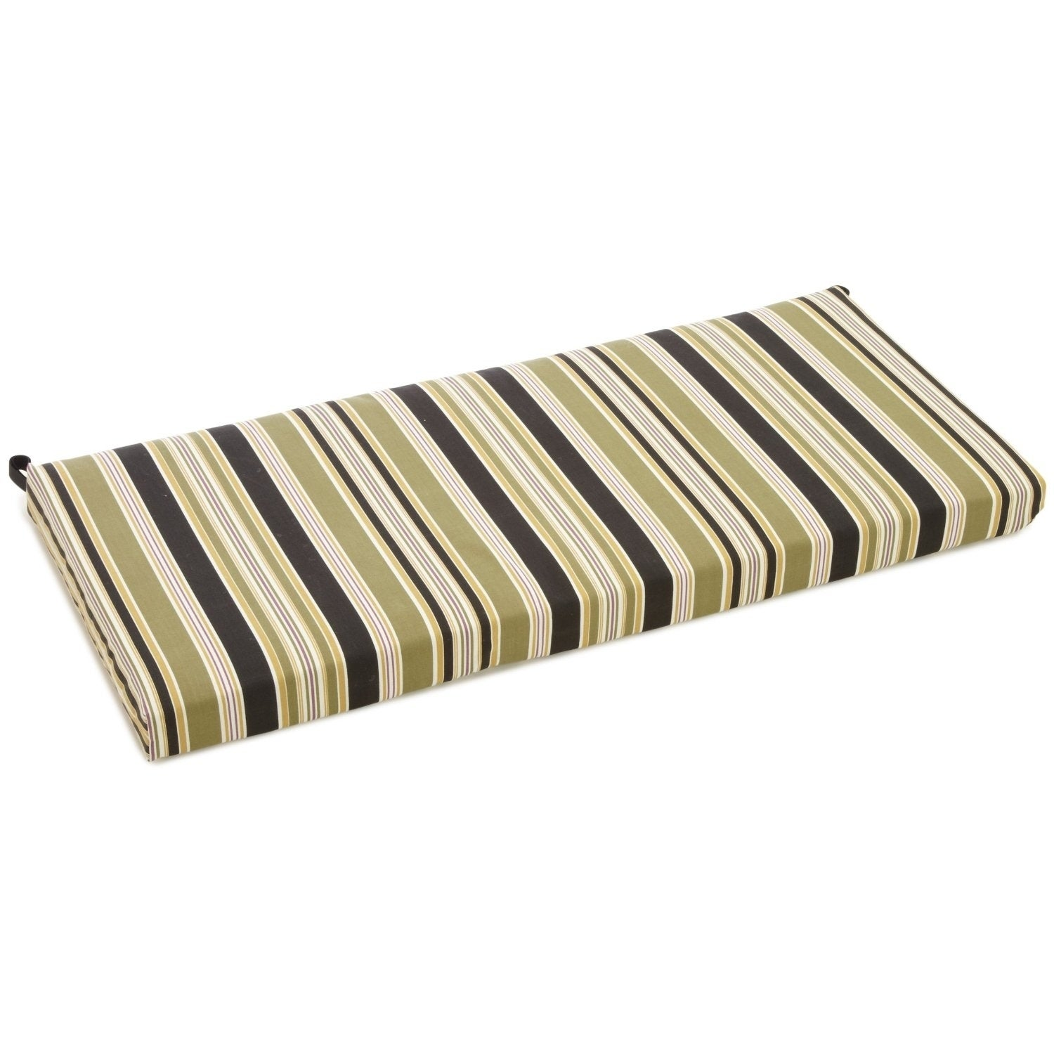 Shop Blazing Needles All Weather Striped 40 Inch Bench Cushion