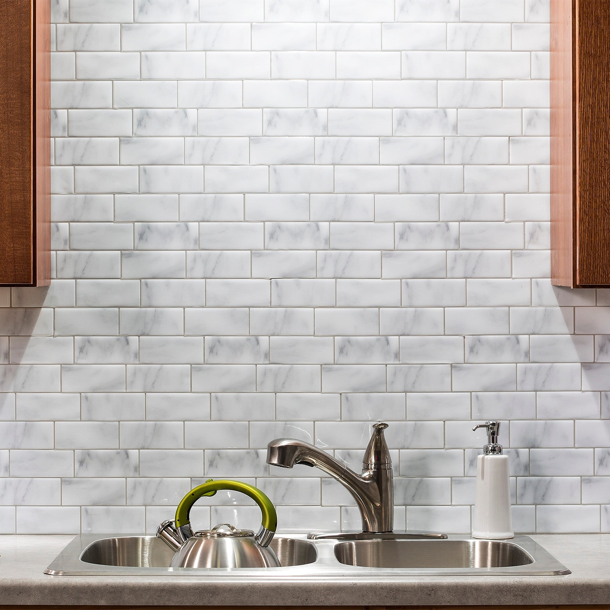 Shop Tack Tile Peel & Stick Vinyl Backsplash (pack of 3) - Free ...