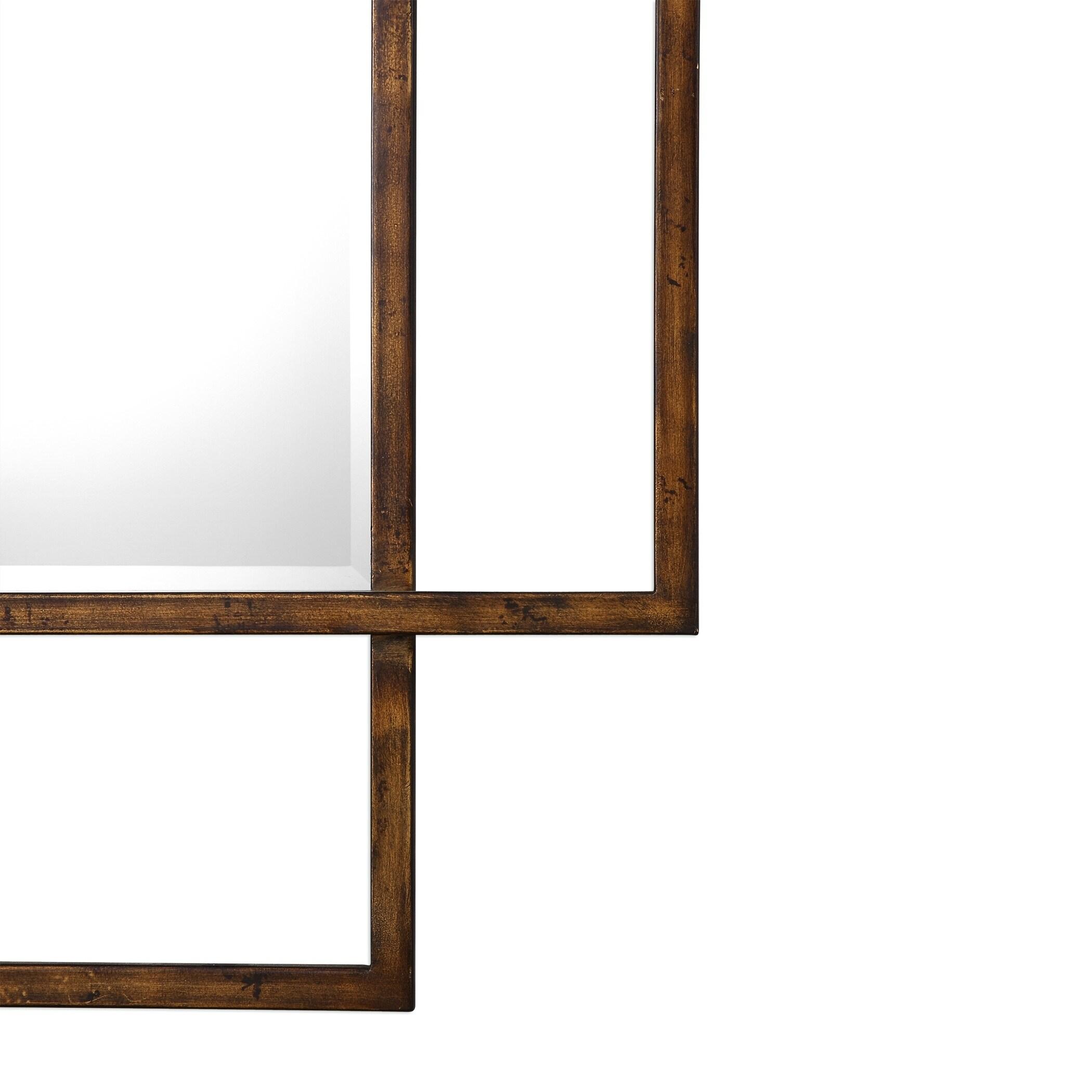 Uttermost Tribus Distressed Rust Bronze Mirror
