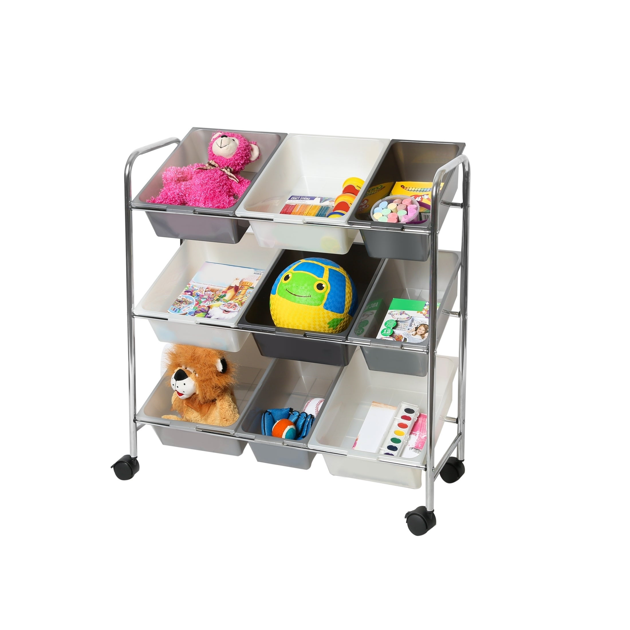 Superbe Shop Seville Classics Mobile 9 Bin Storage Organizer, Gradient Gray   Free  Shipping On Orders Over $45   Overstock.com   21936138