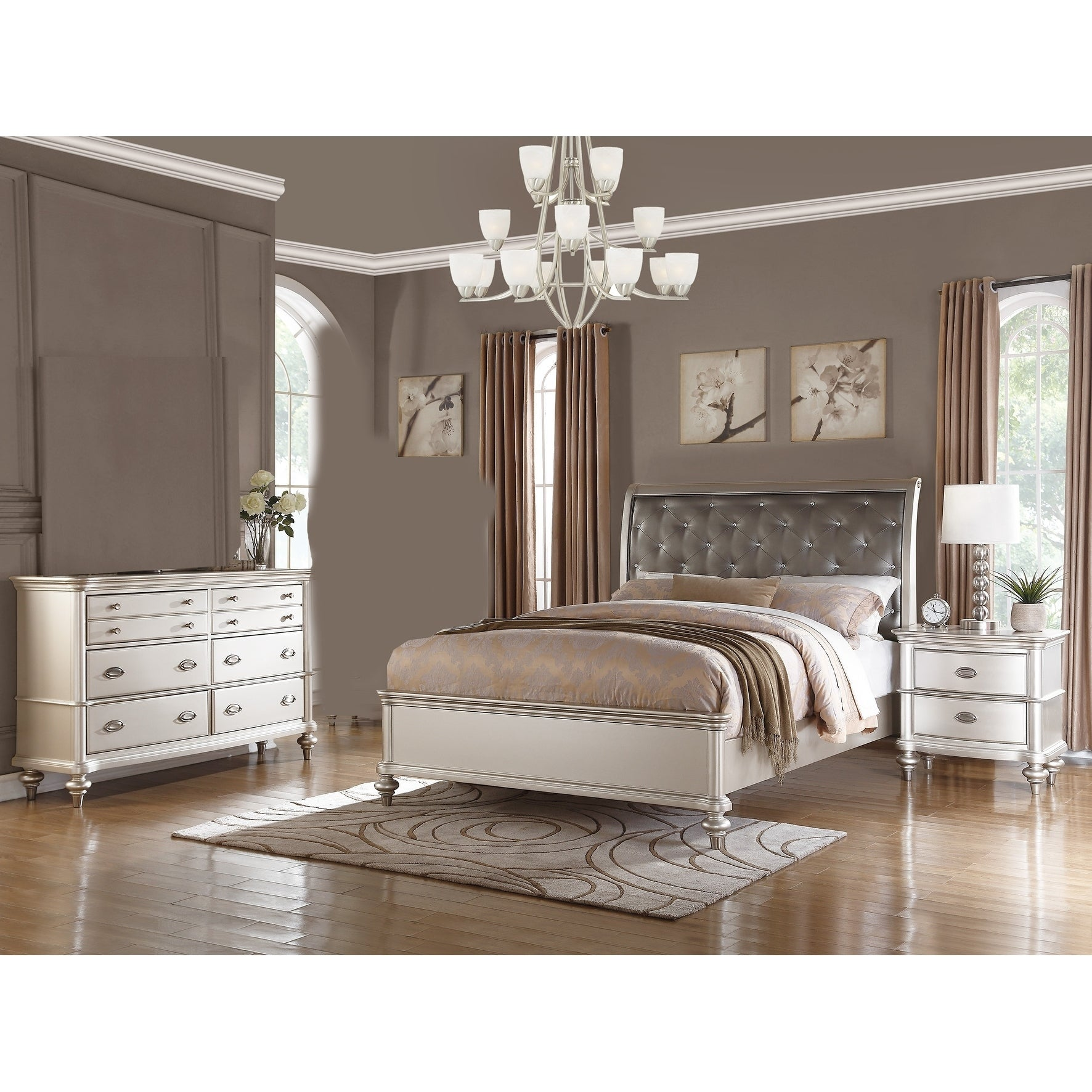 Shop Saveria 3-Piece Bedroom Set With Dresser - Free Shipping Today ...