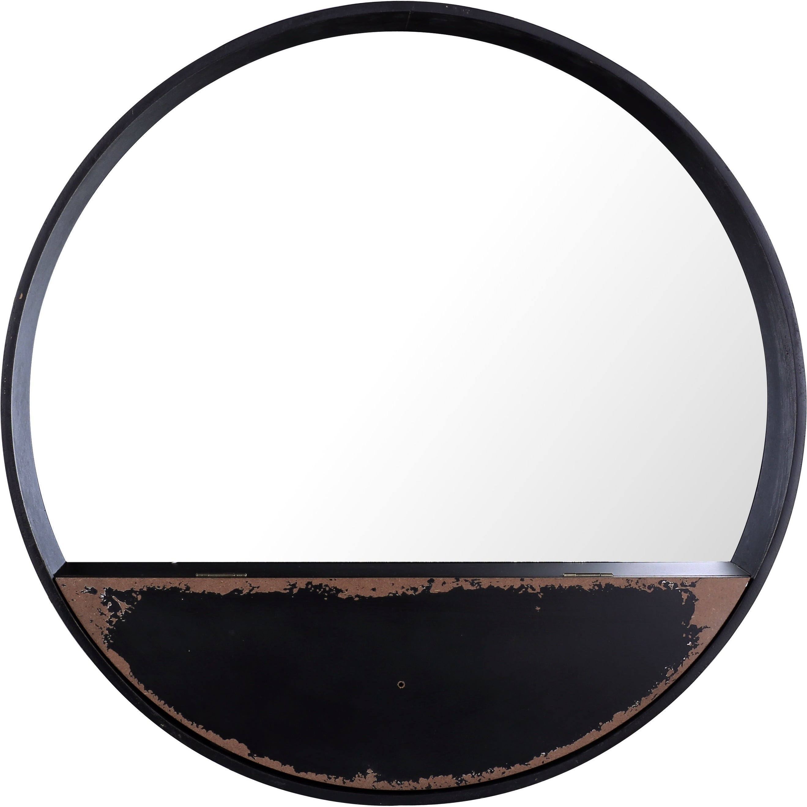 Round Metal Iii Wall Mirror Shelf By Artmaison Canada
