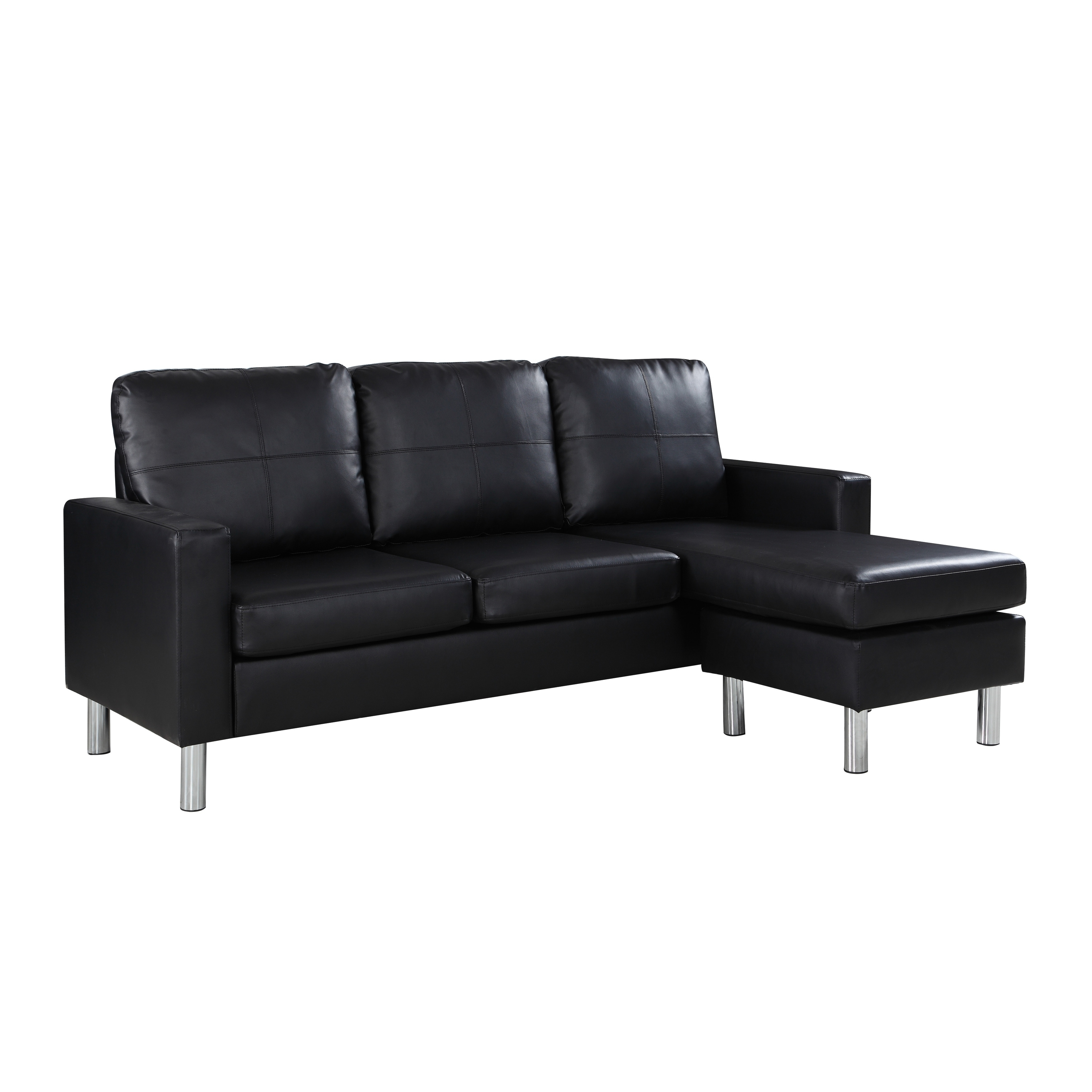 Modern Small Bonded Leather Sectional Sofa Free Shipping Today 21950411