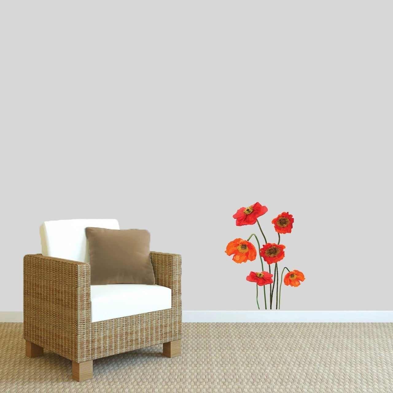 Poppies Printed Wall Decal Free Shipping On Orders Over 45
