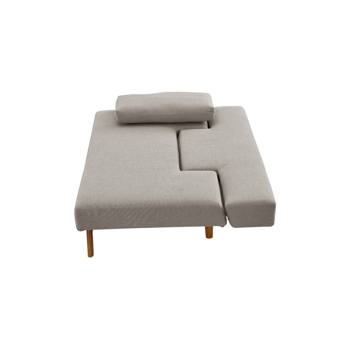 Astounding Luca Home Light Beige Sofa Bed Download Free Architecture Designs Ogrambritishbridgeorg