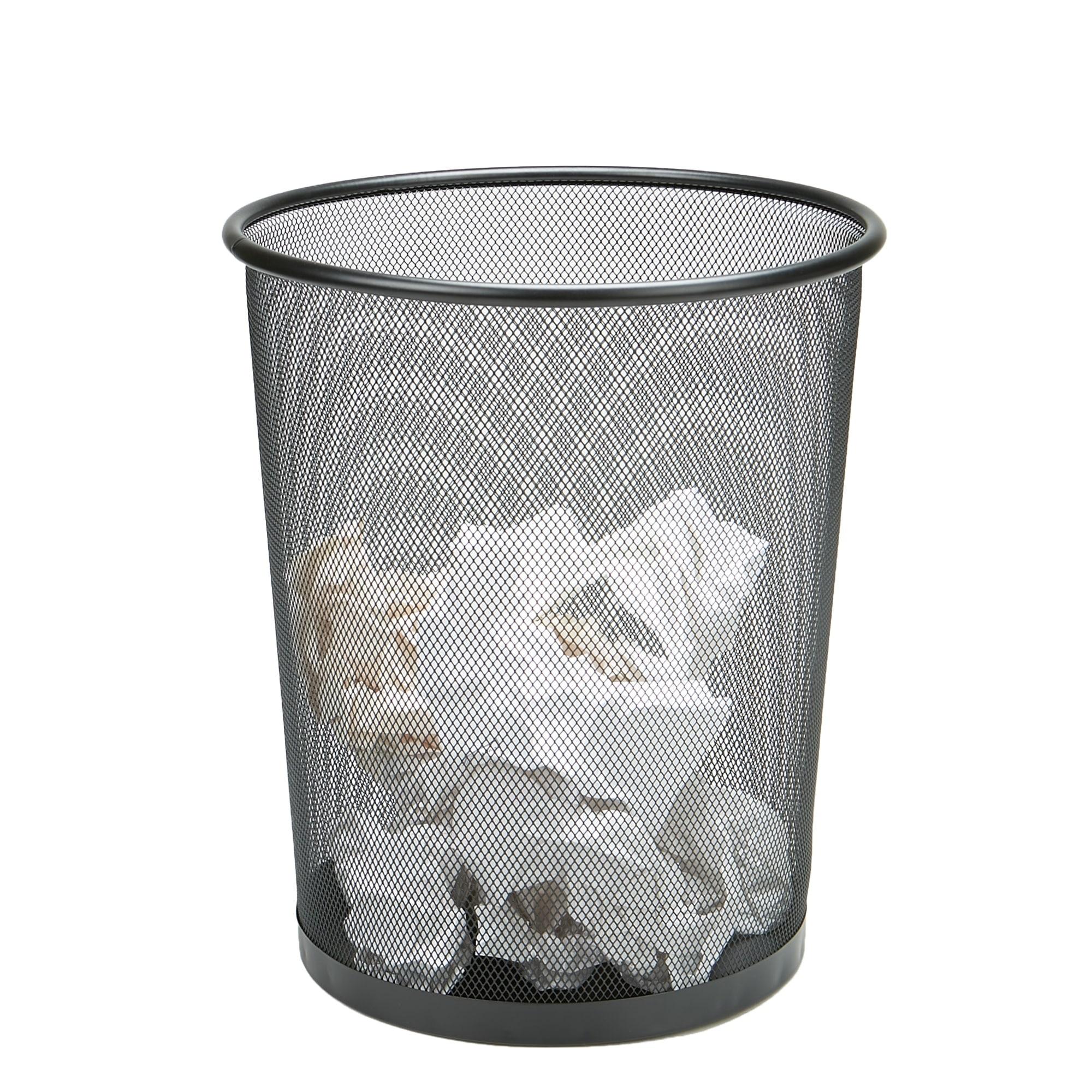 Mind Reader 3 Piece Garbage Waste Basket Recycling Bin Set, Round