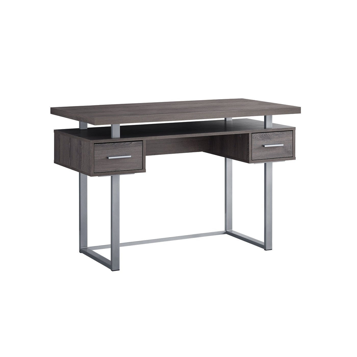 Computer Desk  48L Silver Metal  Free Shipping Today