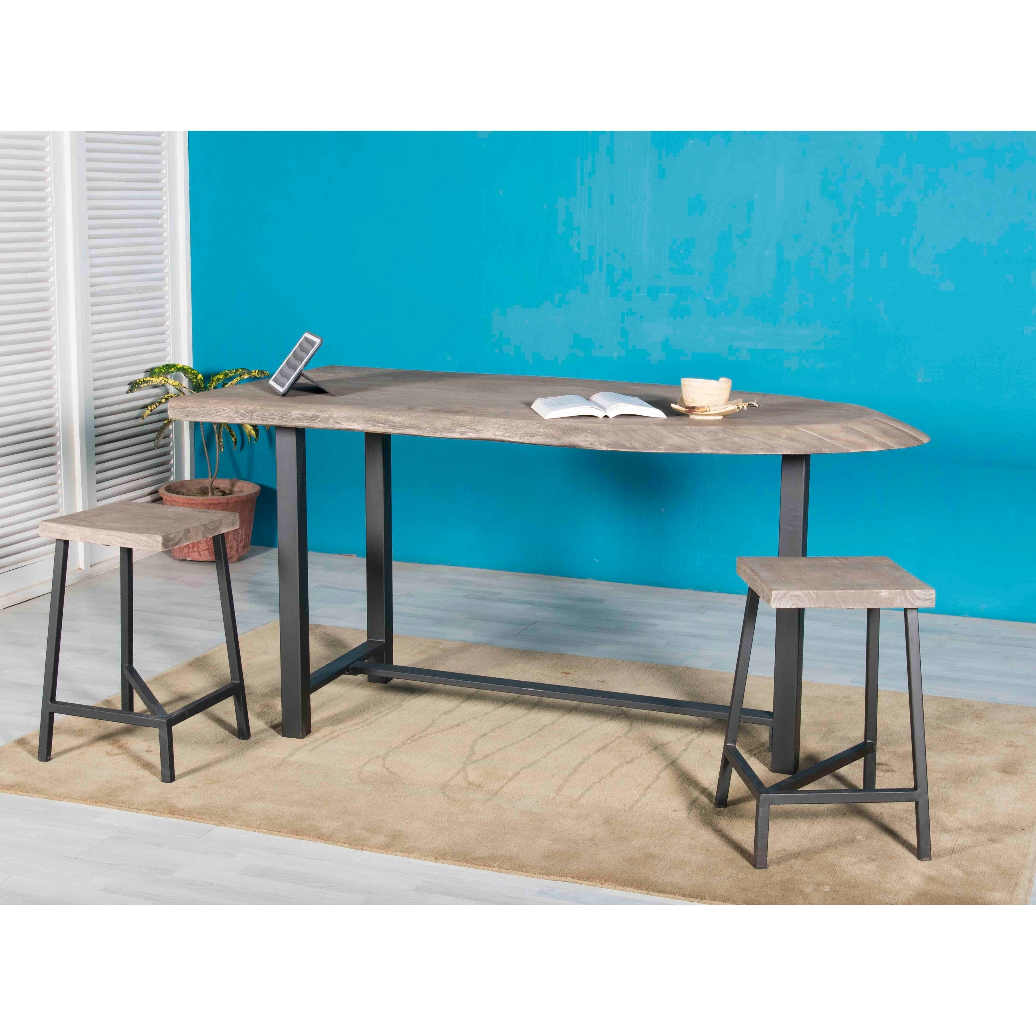 Shop Counter Height Dining Table - Ships in 2 Cartons - Grey - N/A ...
