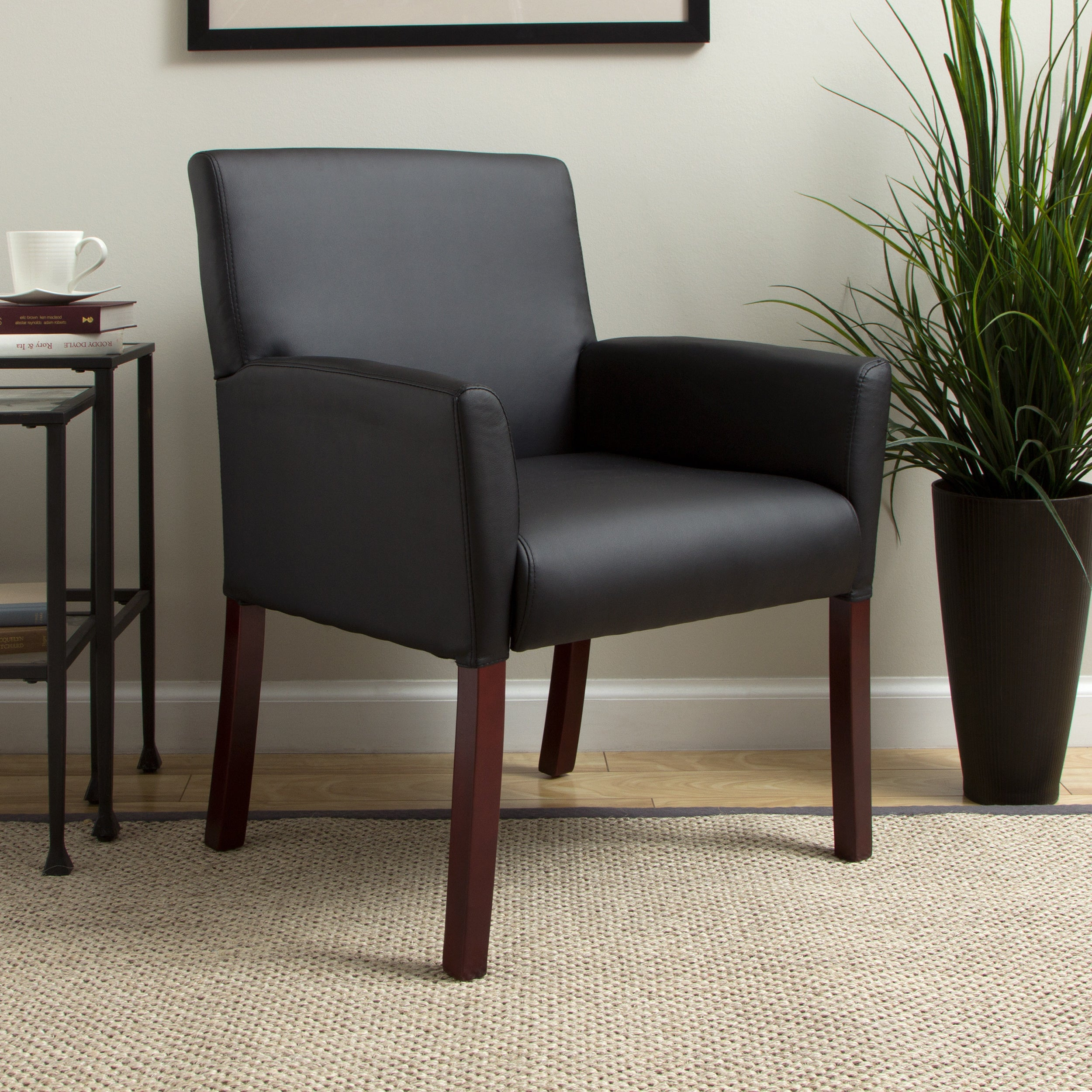 Boss Caressoft Reception Box Arm Chair Free Shipping Today  # Muebles Dutailier