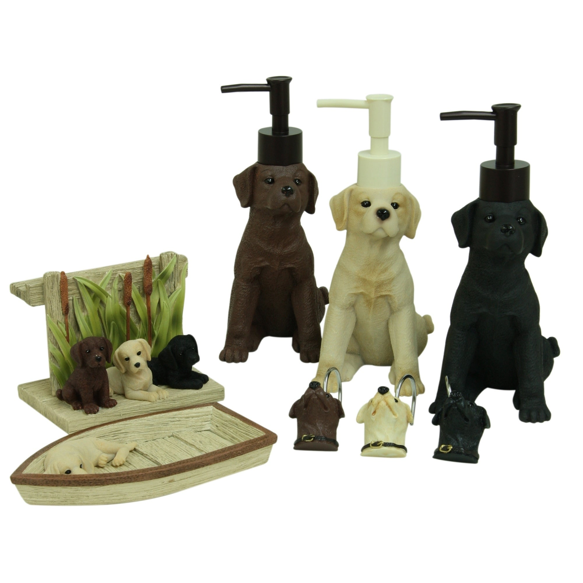Shop Woodland Dogs Shower Curtain Hooks By Bacova