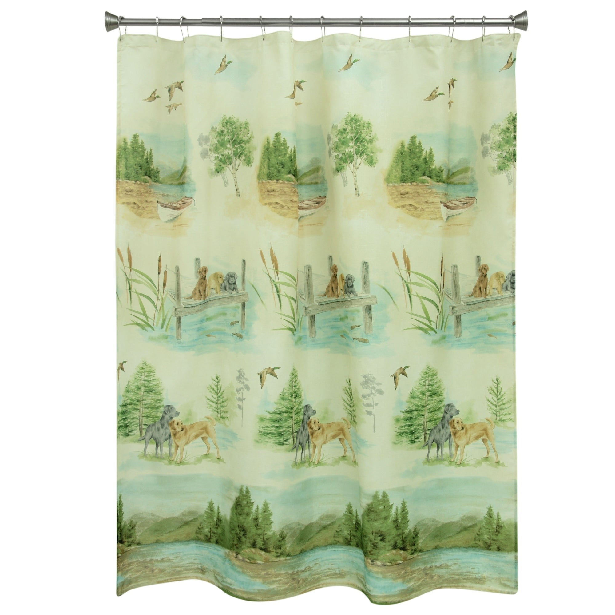 Shop Woodland Dogs Shower Curtain By Bacova