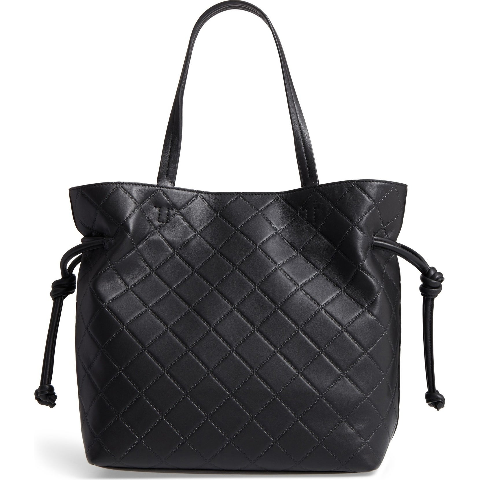 a80b652f89a2 Shop Tory Burch Georgia Slouchy Quilted Black Leather Tote - Free Shipping  Today - Overstock - 22039479