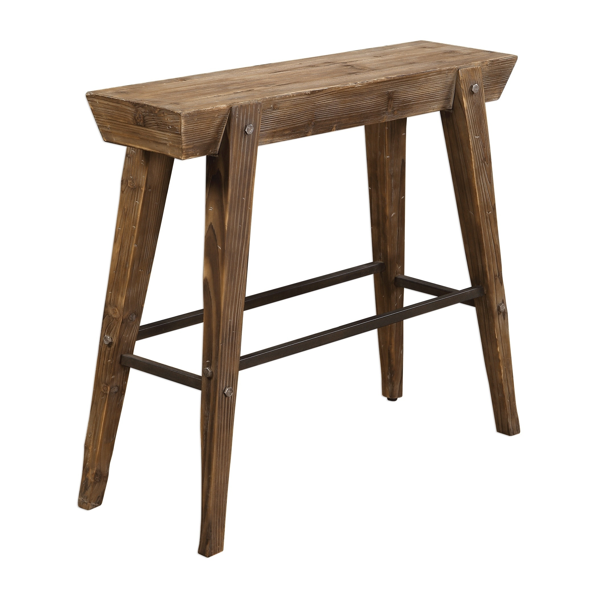 Delicieux Uttermost Hayes Natural Weathered Wooden Console Table