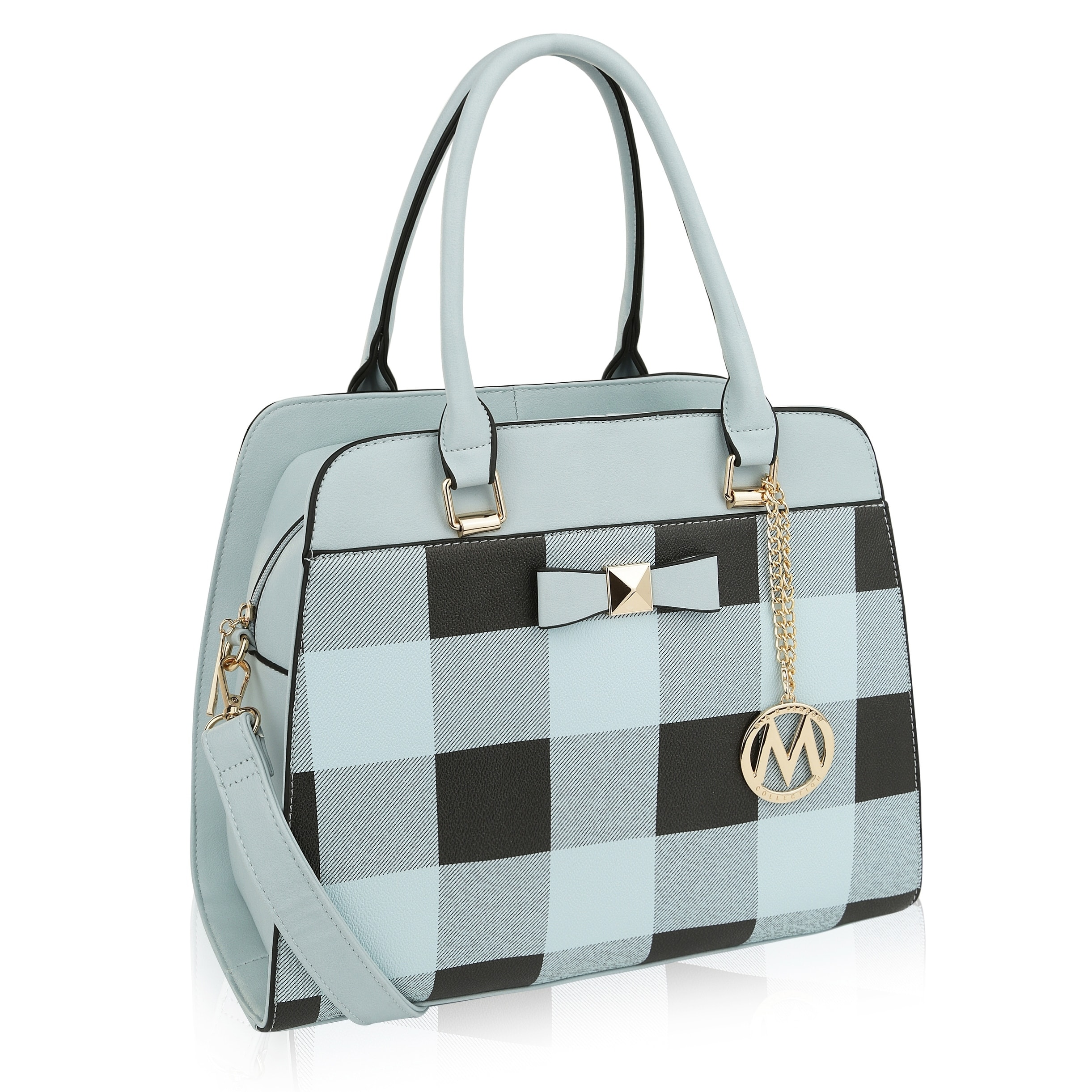 290b39db3438 MKF Collection Bridget Plaid Satchel/Shoulder Bag by Mia K Farrow