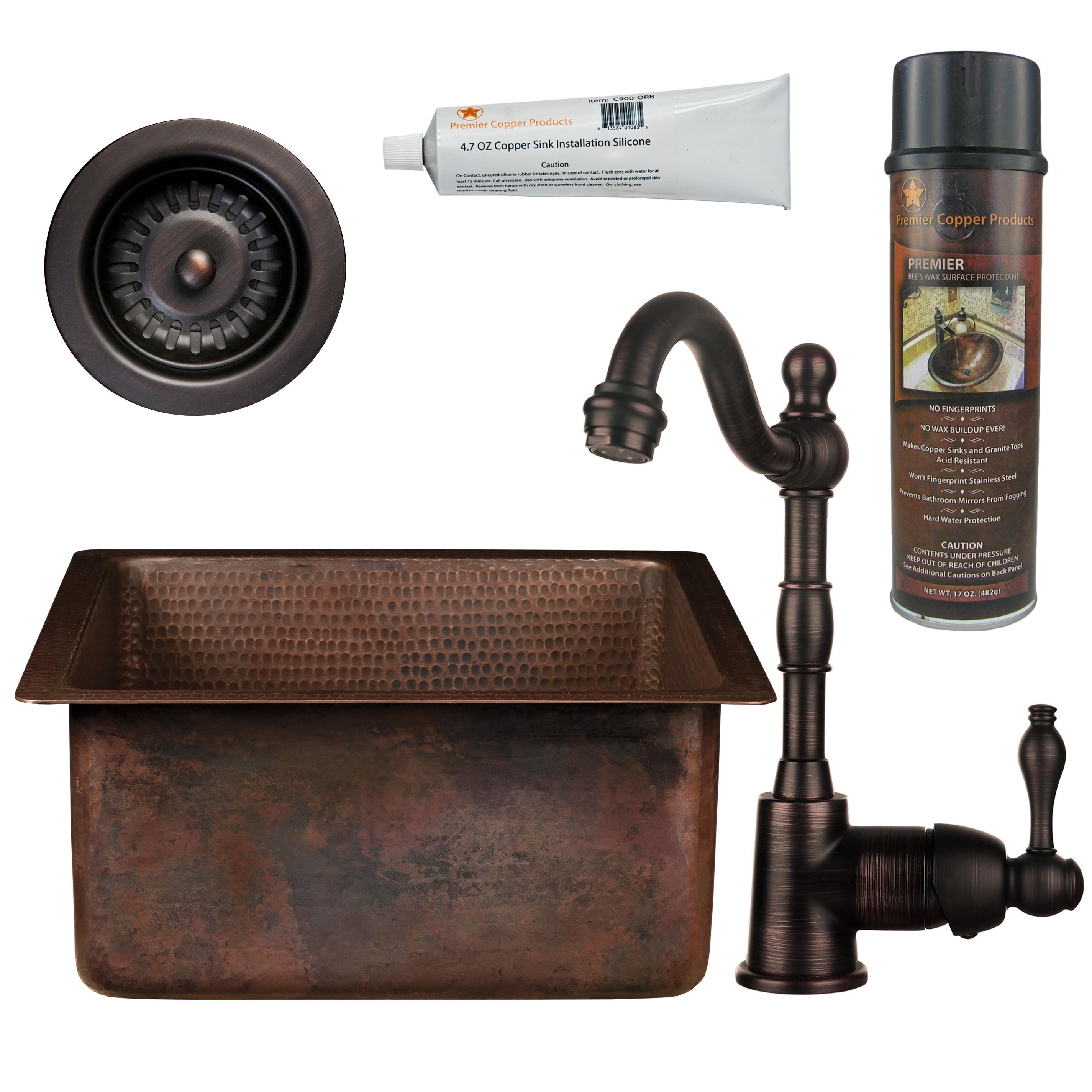 Shop Premier Copper Products Bsp4 Bs16db3 D Bar Prep Sink Faucet