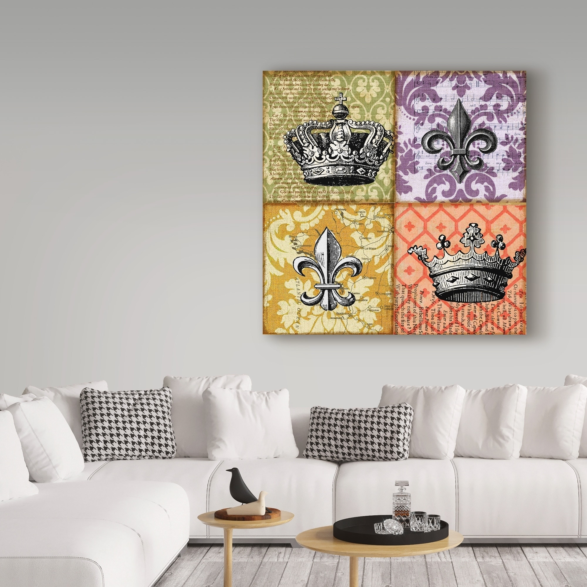 Shop Art Licensing Studio Crown And Fleur Canvas Art Sale