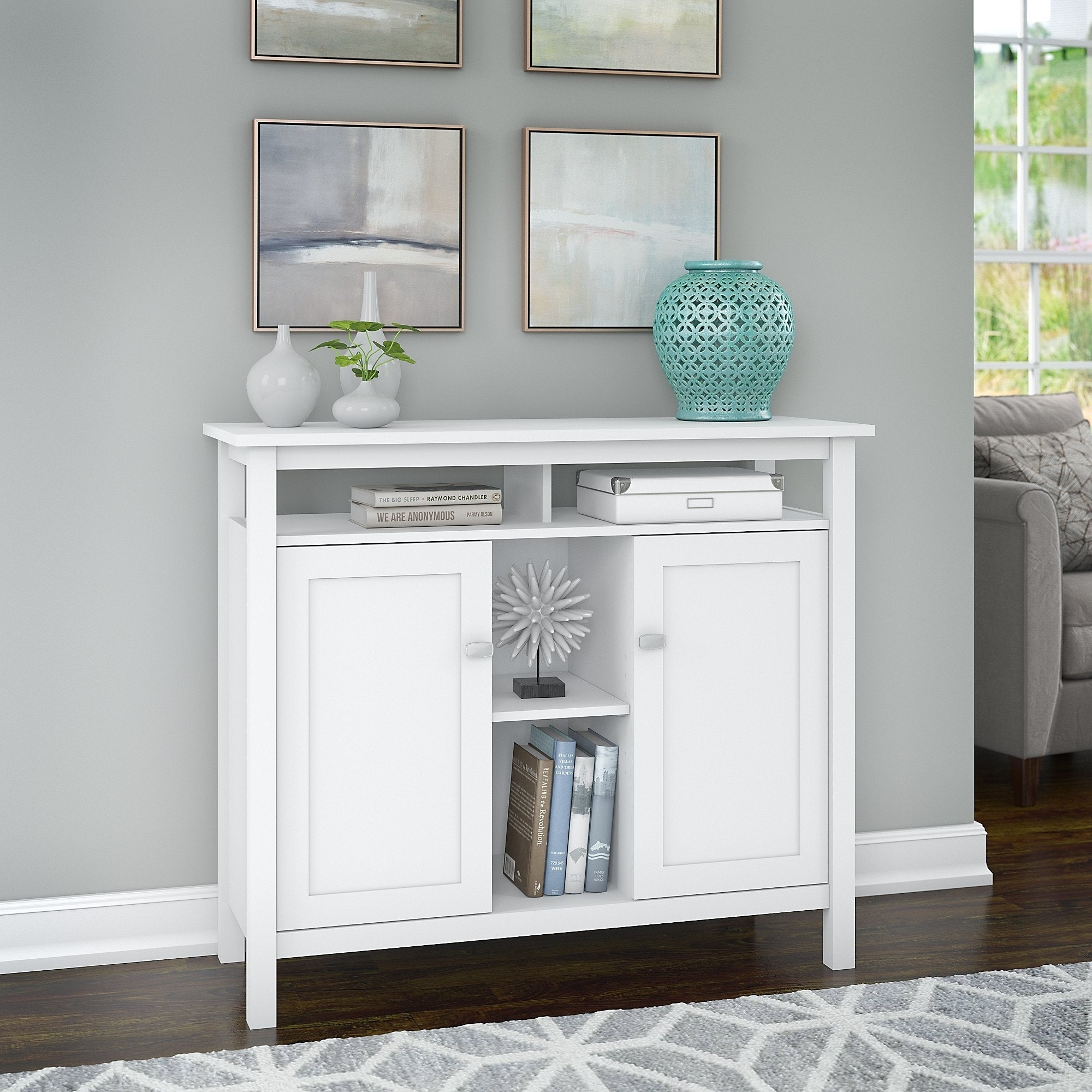 Shop Porch Den Tatnall Console Table With Storage In White Free