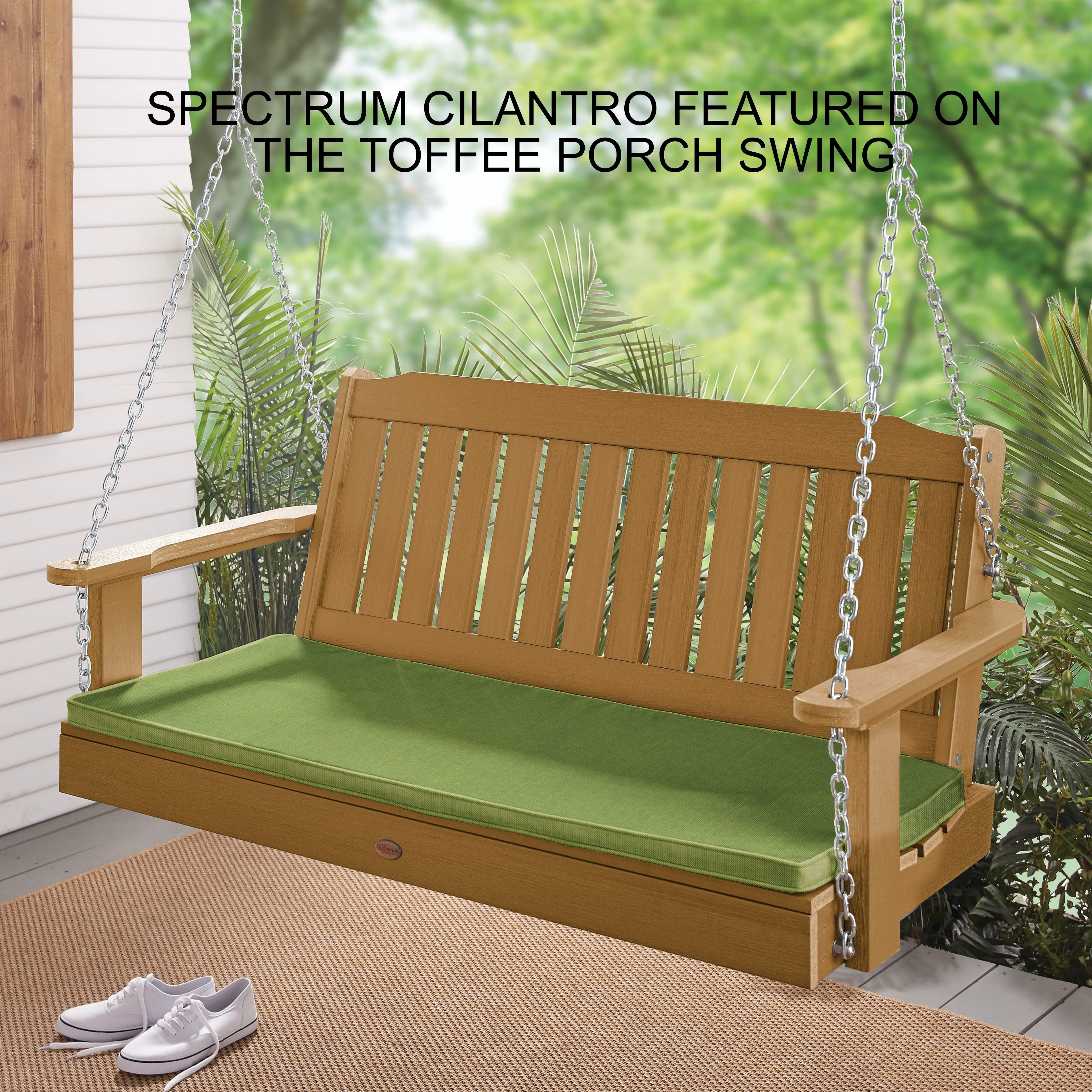 Lehigh Sunbrella Corded Outdoor Porch Swing Cushion 47 In W X 18 D Free Shipping Today 22045560
