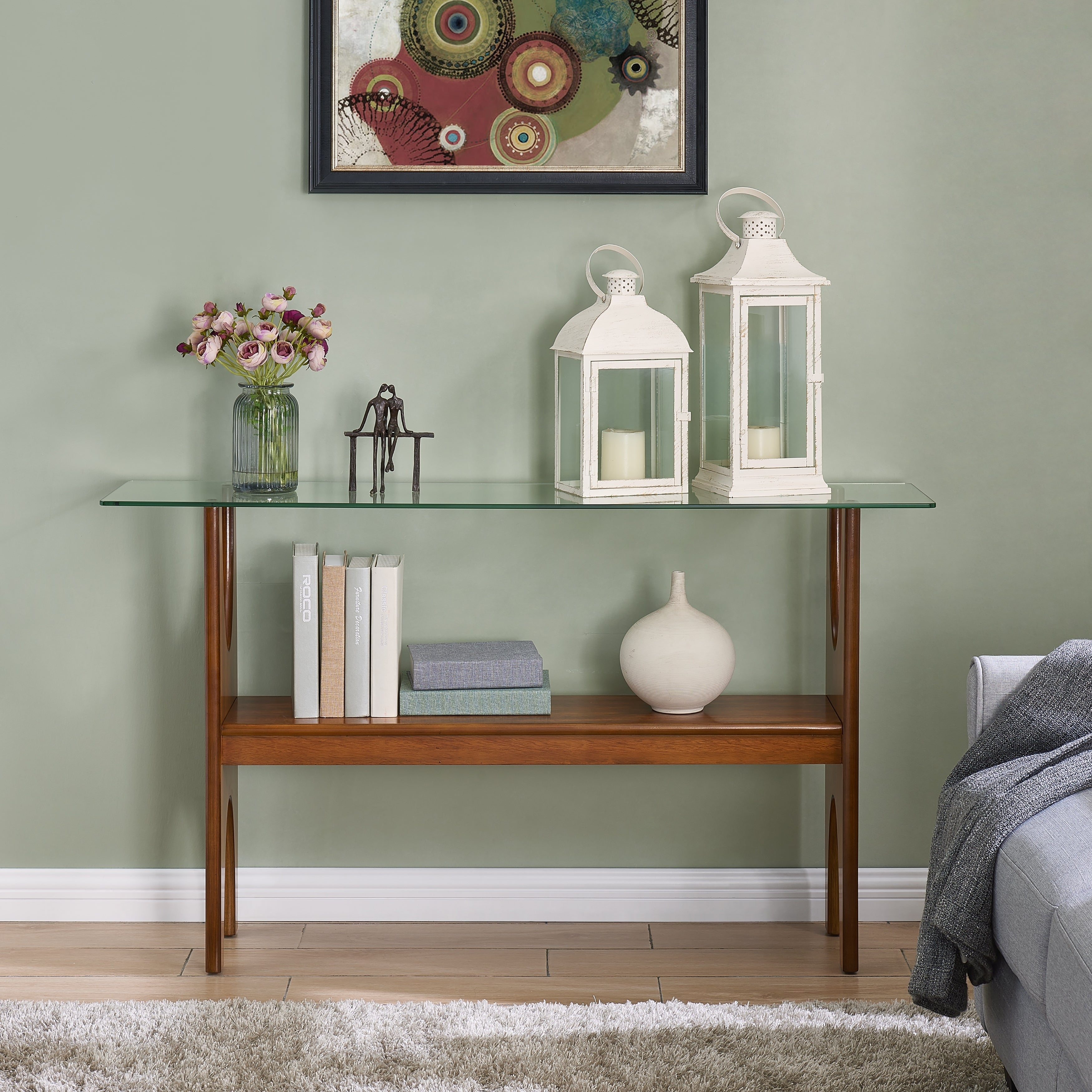 Harper Blvd Sedy Dark Sienna Console Table  Free Shipping