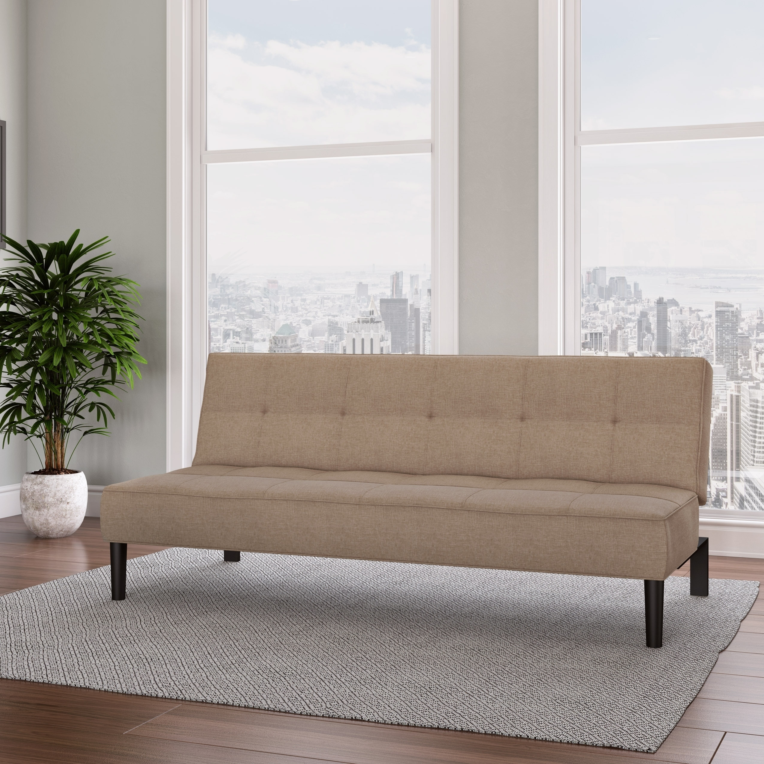 Corliving Convertible Futon Sofa Bed With Textured Mattress  Free