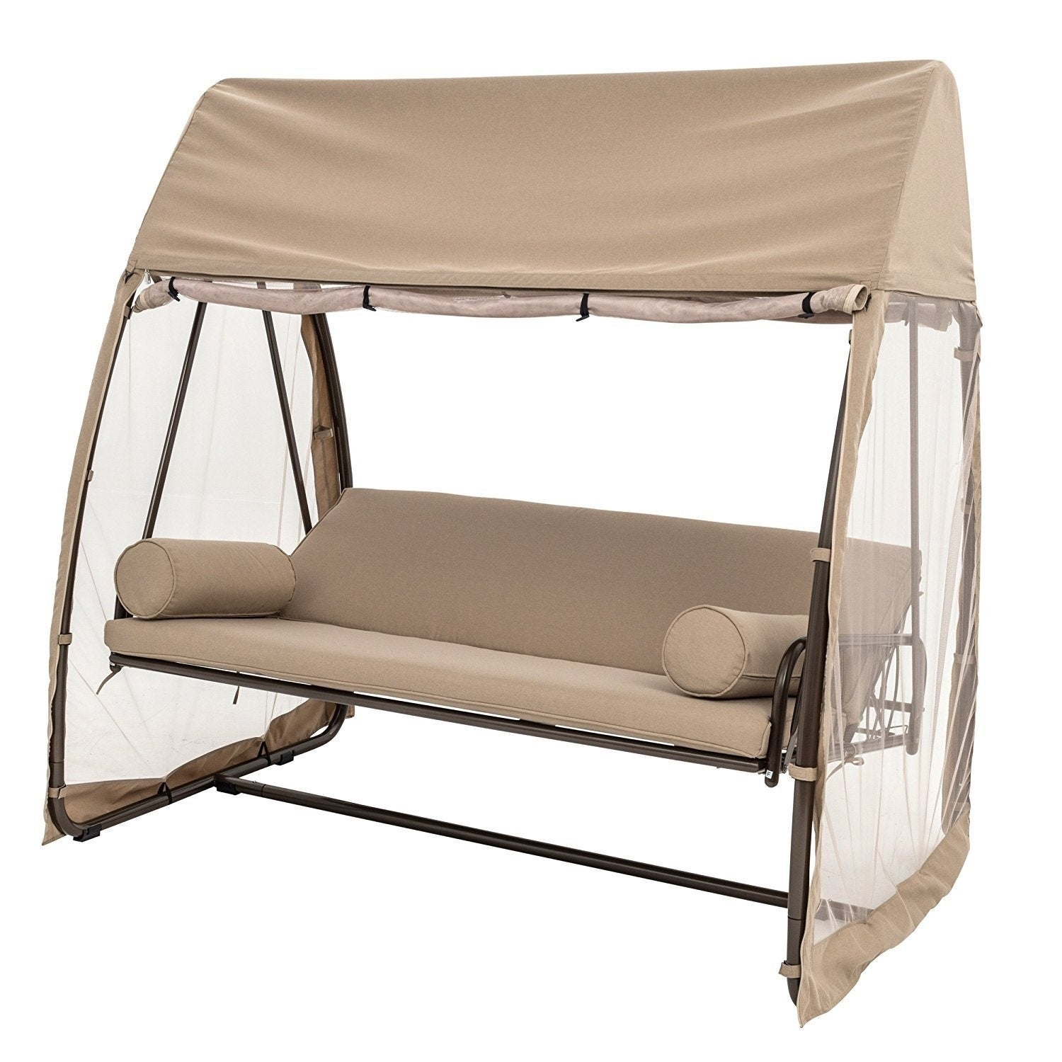 Sorara 2 Person Hanging Porch Swing Hammock Outdoor Canopy Cover
