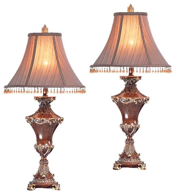 Tuscany Beaded Shade Table Lamps Set Of 2 Free Shipping Today 2205194