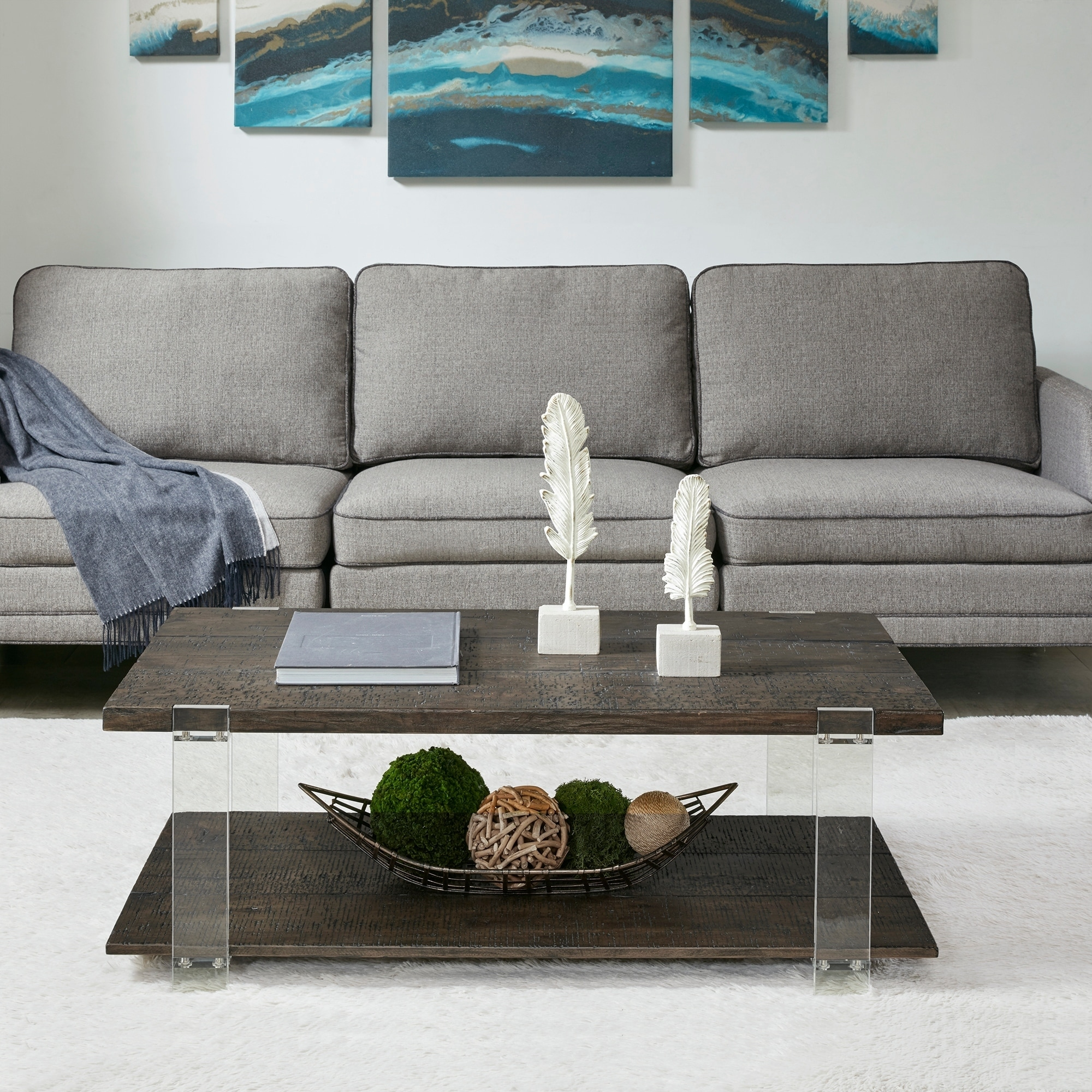 Madison Park Alford Dark Brown Coffee Table  Free Shipping