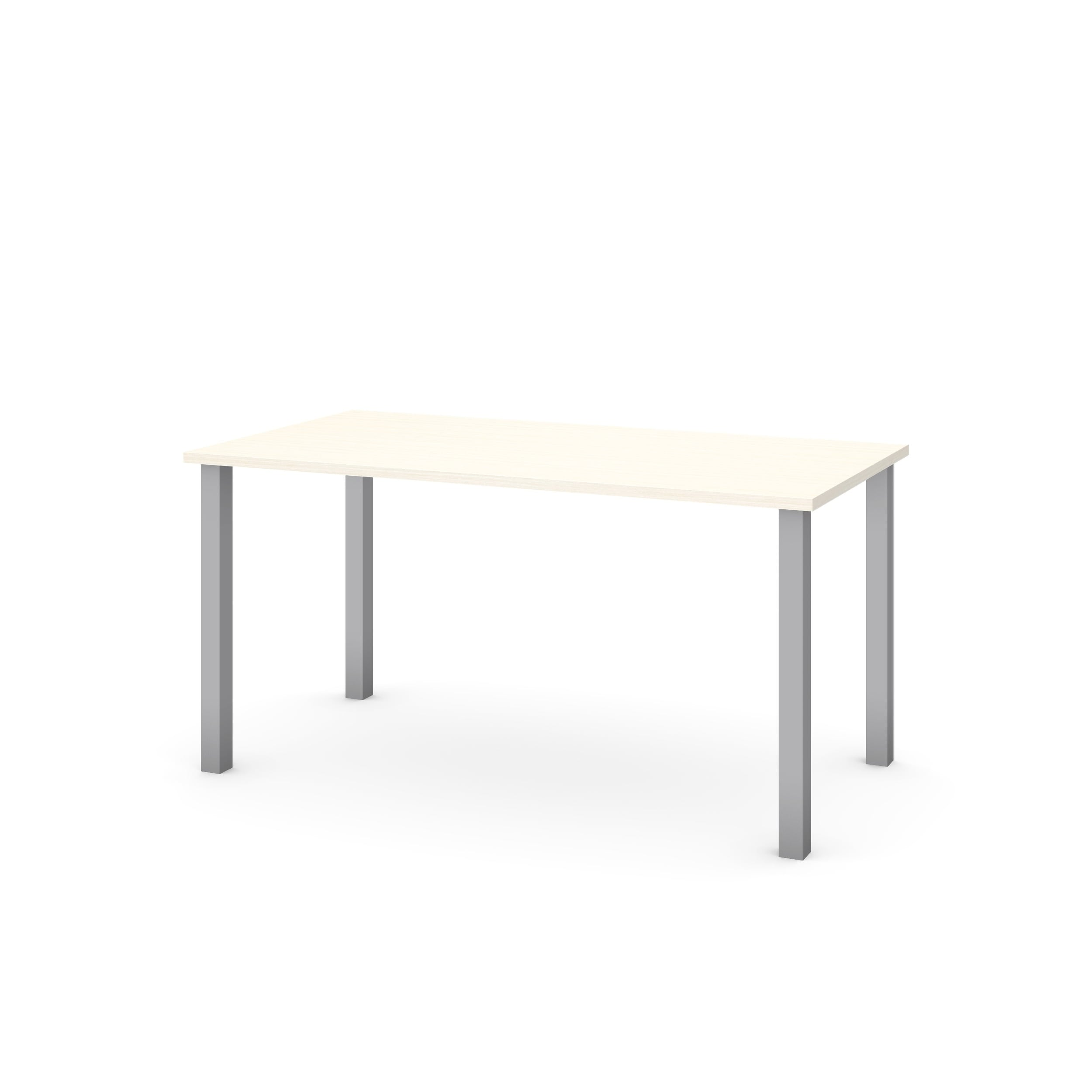 Superb Bestar 30 X 60 Table With Square Metal Legs Home Remodeling Inspirations Cosmcuboardxyz