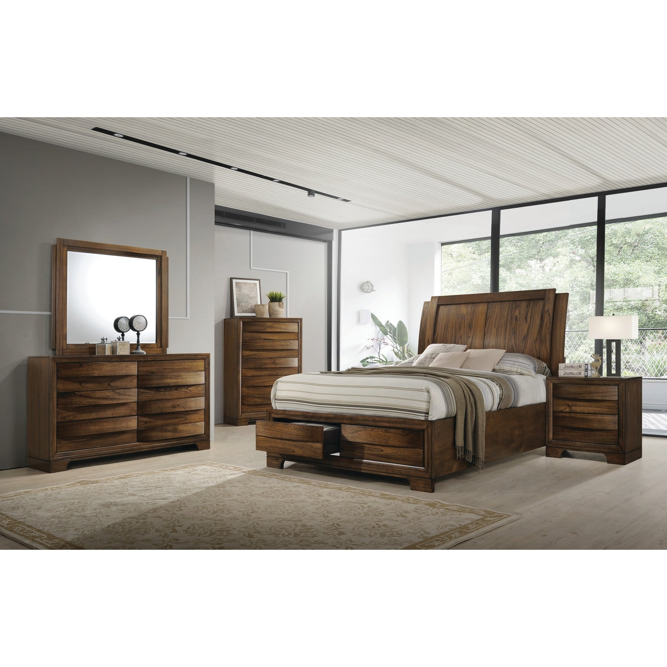 Hunter Transitional Cognac Bed  Free Shipping Today  Overstock