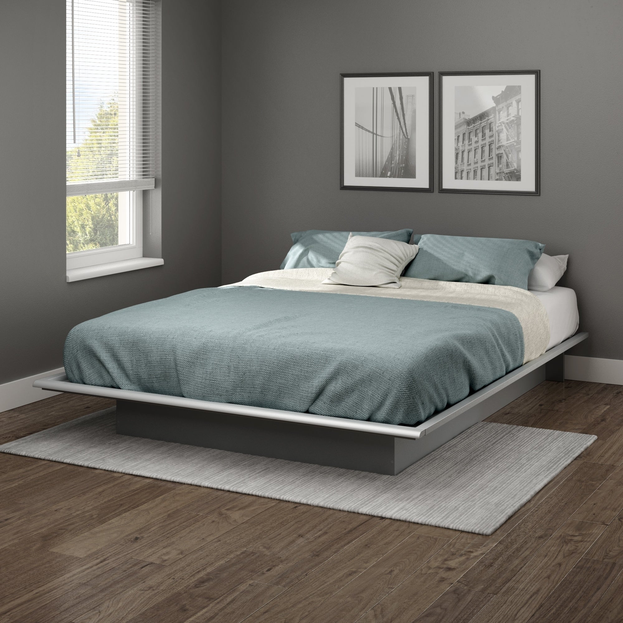 South Shore Step One Queen Platform Bed (60)  Free
