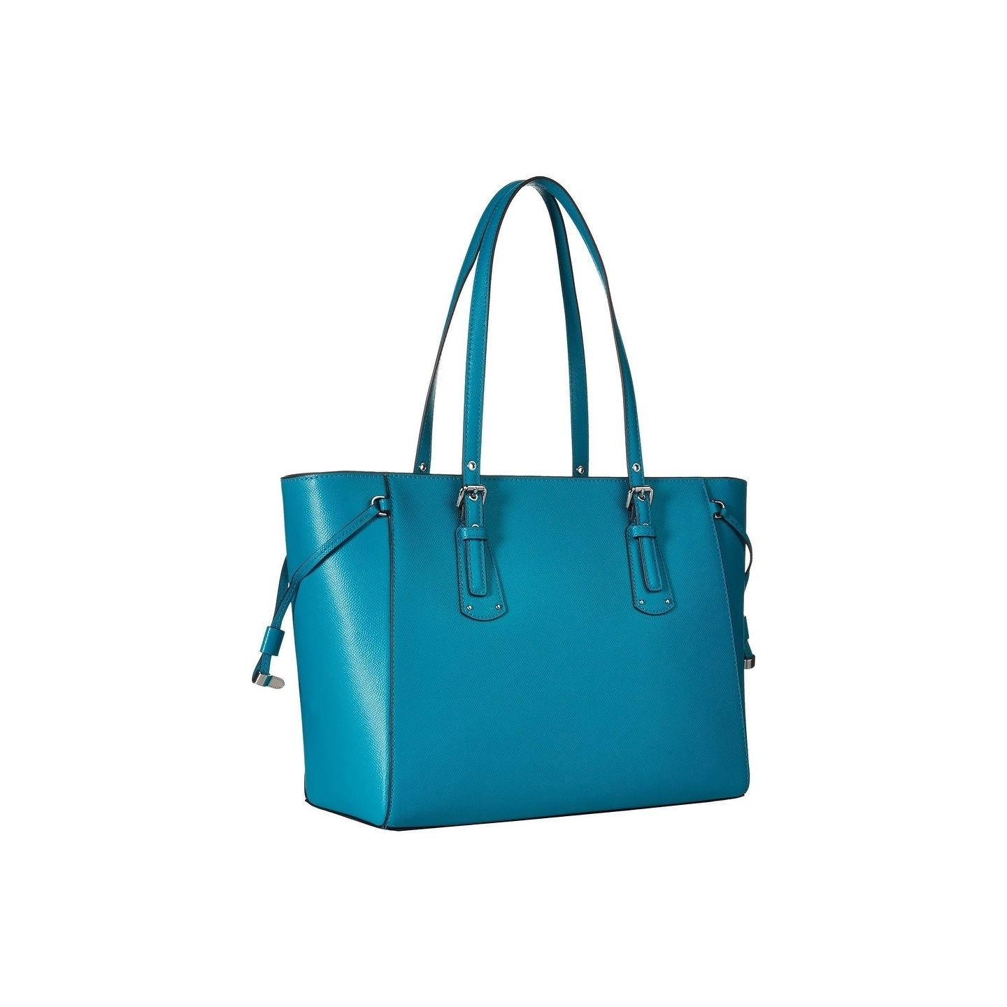 d42319fb7744 Shop MICHAEL Michael Kors Voyager Medium Top Zip Tile Blue Tote Bag - On  Sale - Free Shipping Today - Overstock - 22081711