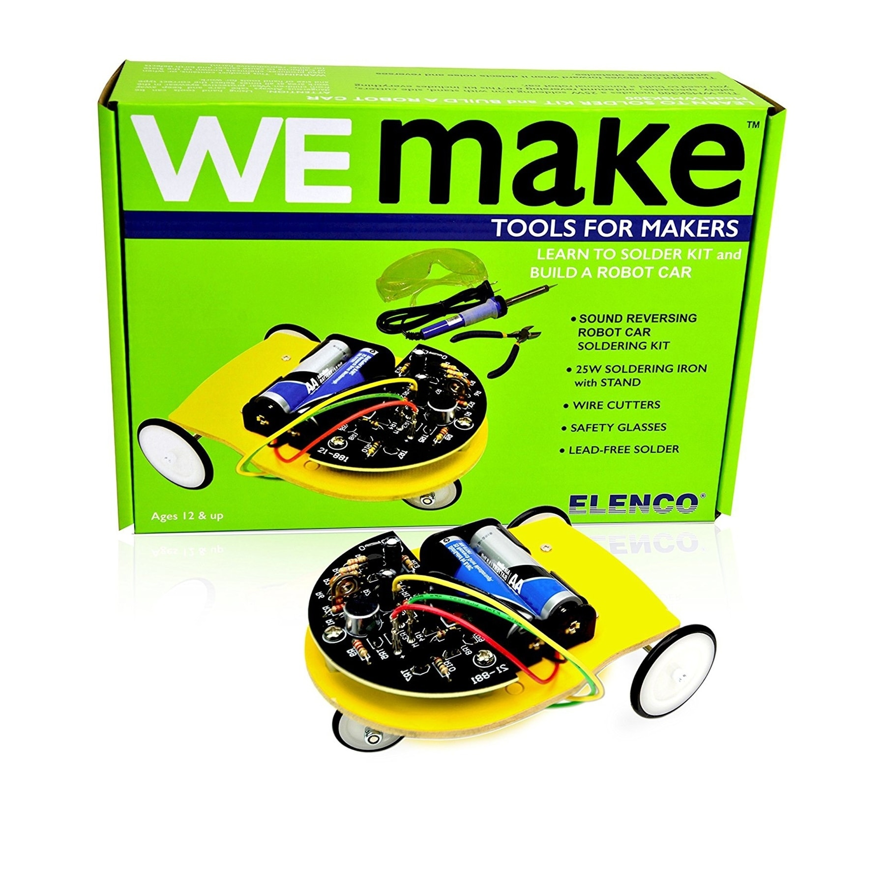 Shop We Make Learn To Solder Kit Build A Robot Car Free Shipping Elenco Snap Circuits Green Alternative Energy On Orders Over 45 22085507