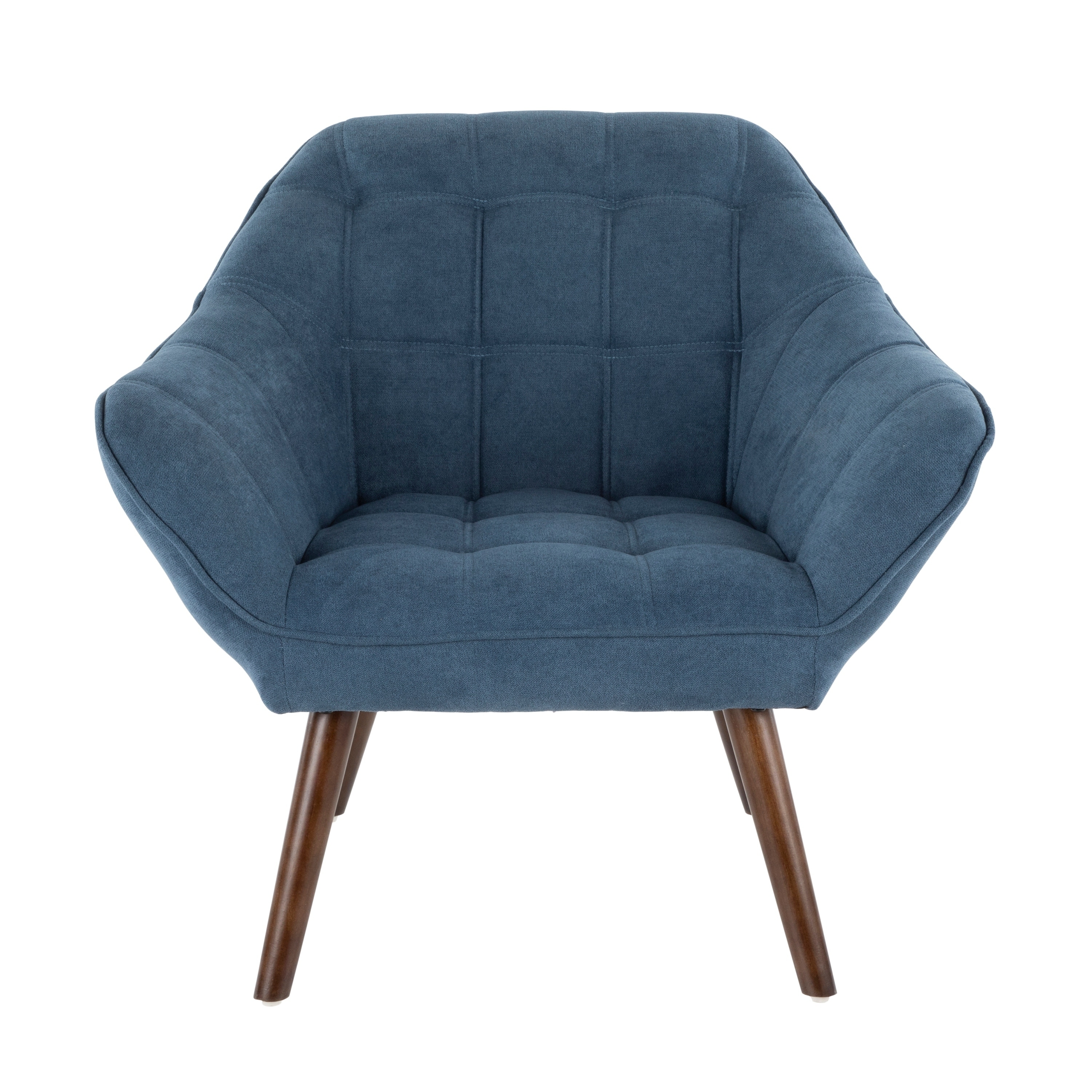 Blue Modern Accent Chairs.Boulder Mid Century Modern Upholstered Accent Chair