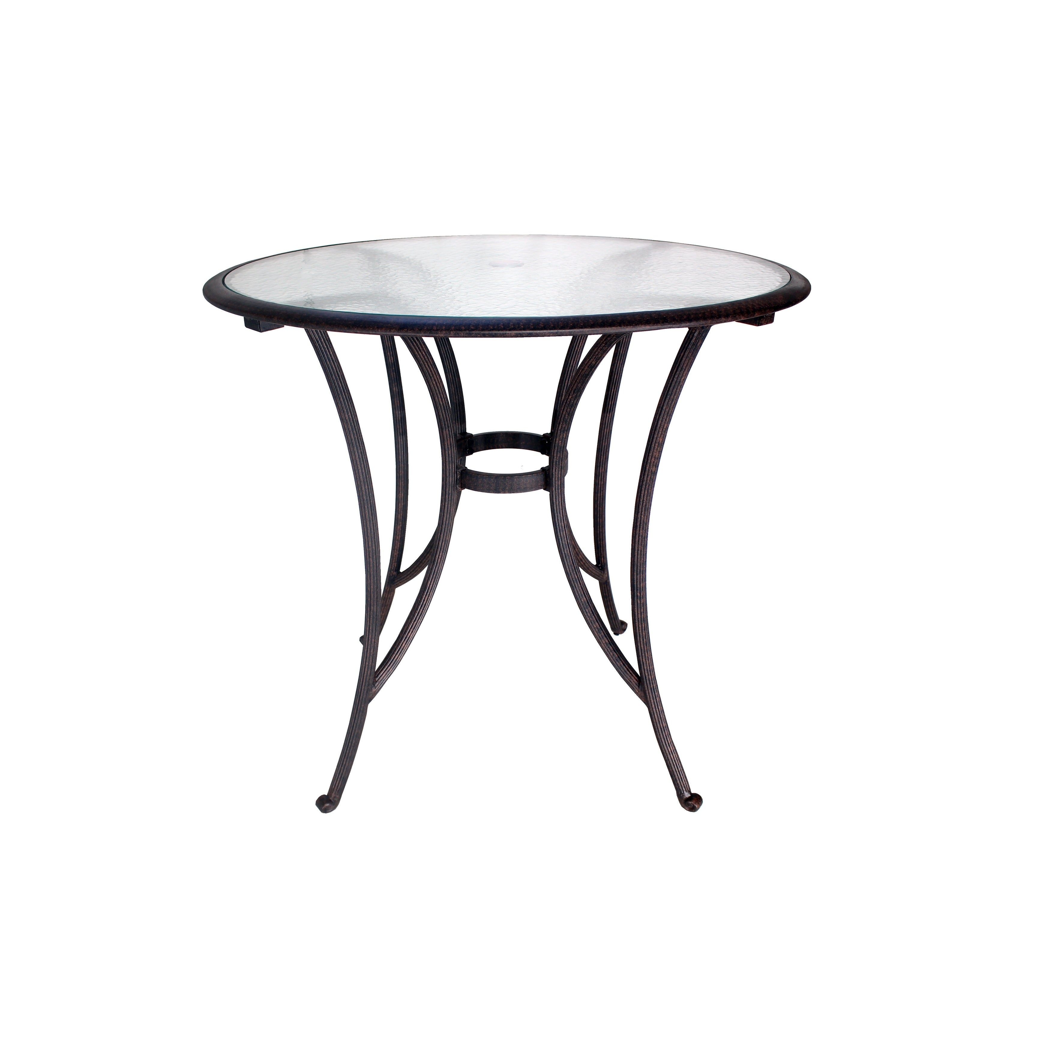 Incroyable Shop Miami Glass Top Bar Height Table   Free Shipping Today   Overstock    22087905