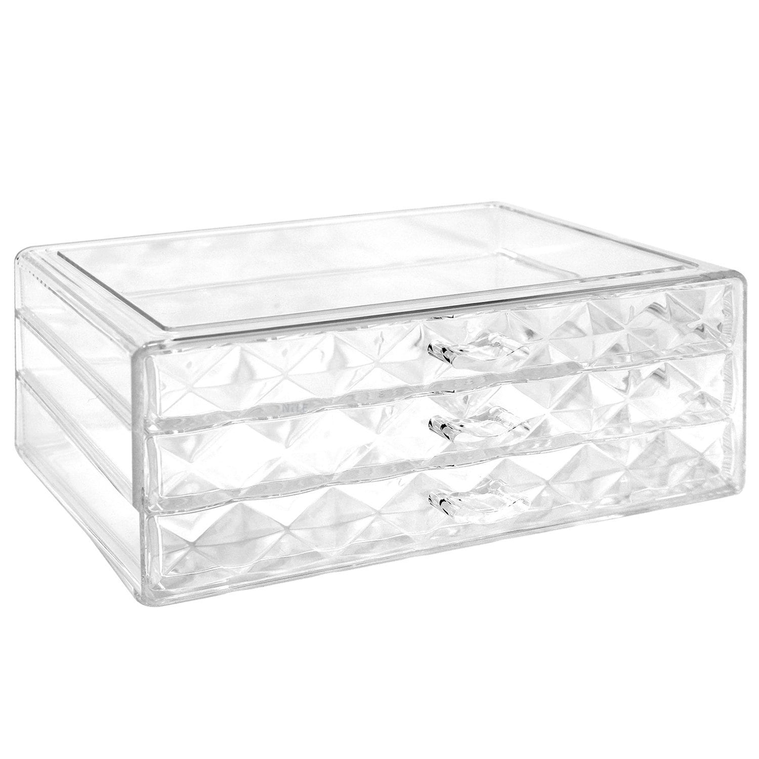 Ikee Design Diamond Pattern Jewelry And Cosmetic Storage Makeup Organizer,