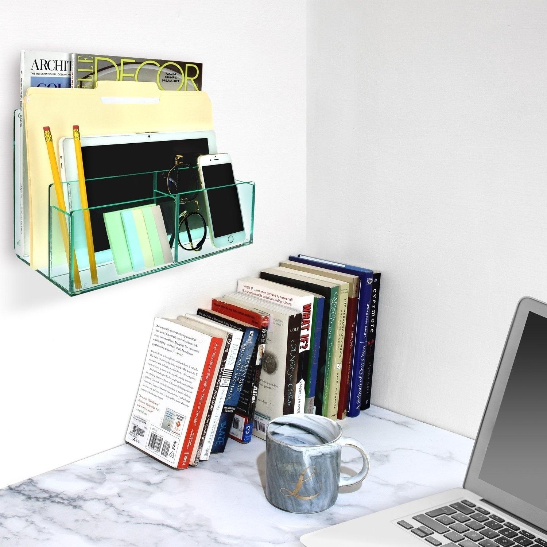 Ikee Design Desktop Organizer File Sorter Makeup Palette Storage